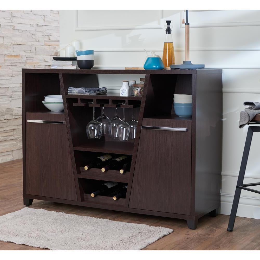 Furniture Of America Welin Espresso (brown) Buffet In 2019 Regarding Modern Espresso Storage Buffets (View 12 of 20)