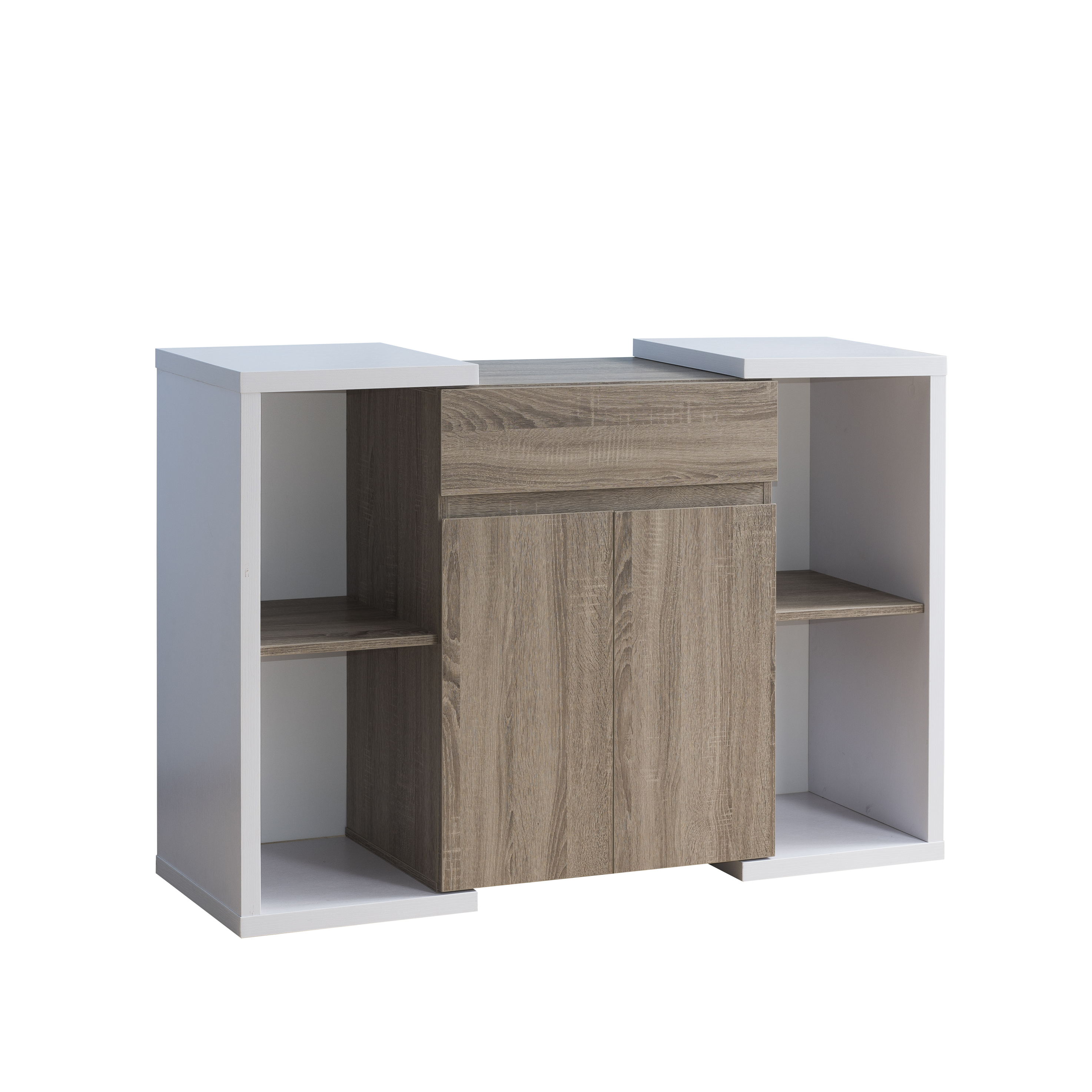 Furniture Of America Windle Contemporary Two Tone Multi Regarding Togal Contemporary White/light Oak Dining Buffets (View 6 of 20)
