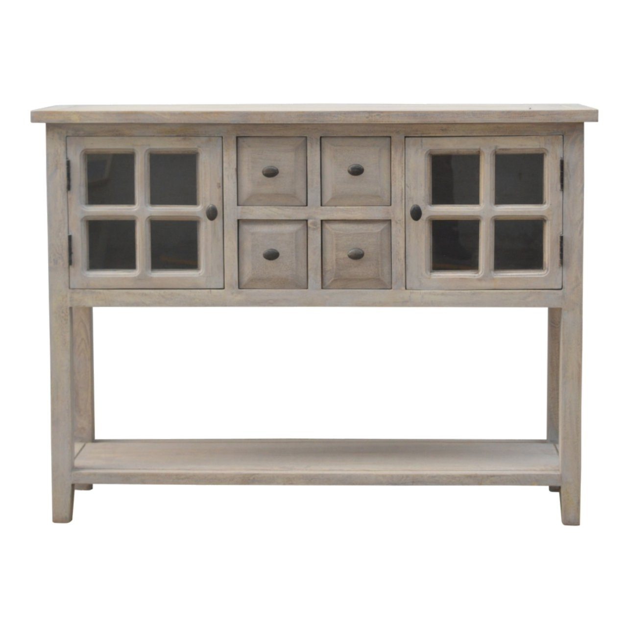 Gareth Buffet Table Regarding Wooden Buffets With Two Side Door Storage Cabinets And Stemware Rack (Gallery 17 of 20)