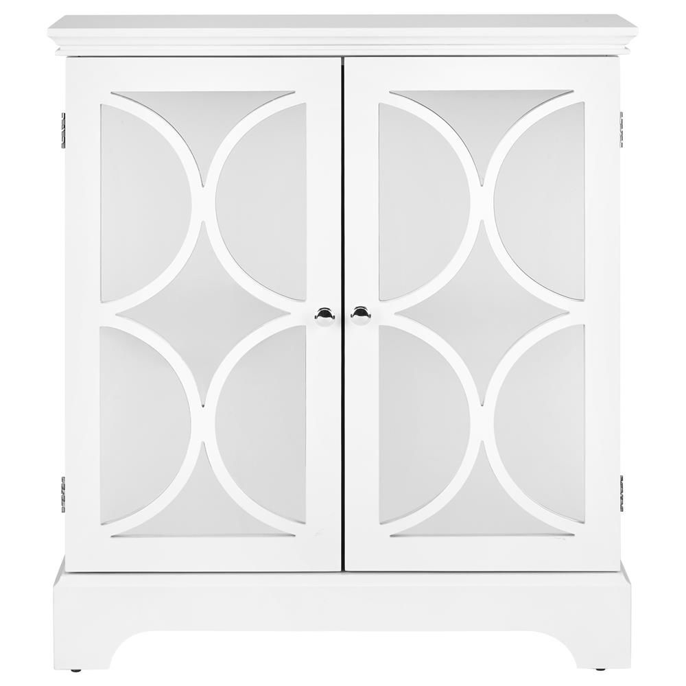 Geometric Cut Out Buffet With 2 Mirrored Doors/buffets With Regard To White Geometric Buffets (View 4 of 20)