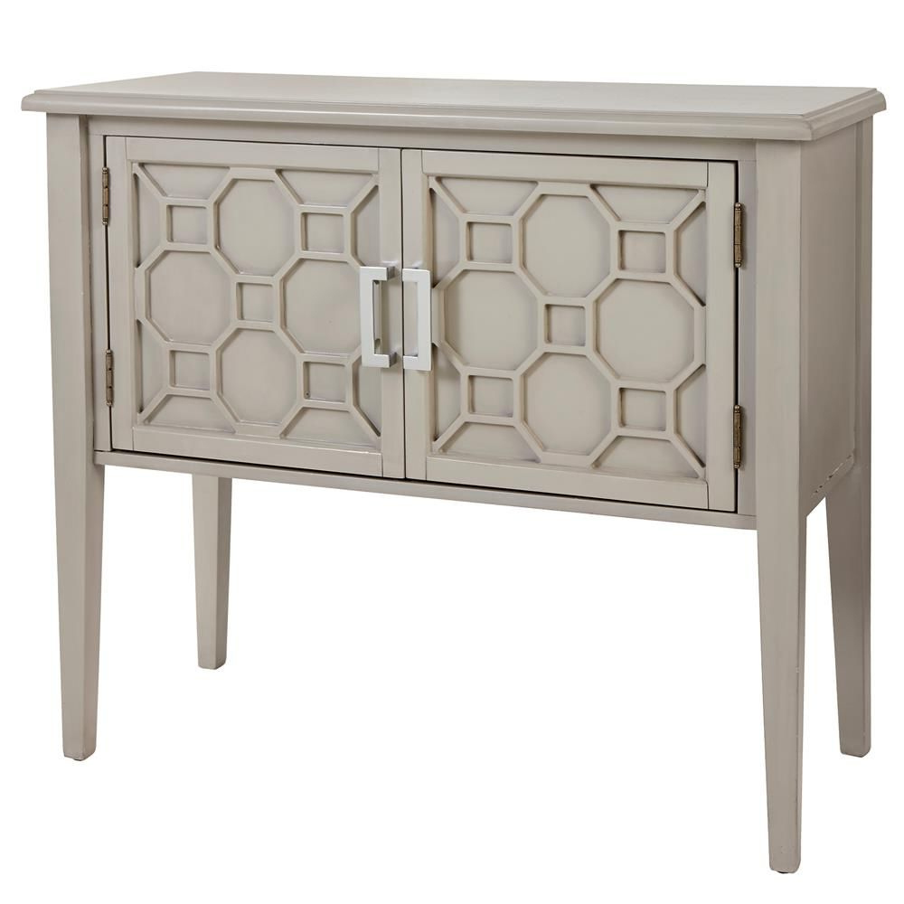 Geometric Two Door Wood Buffet/buffets & Cabinets/dining For Mirrored Double Door Buffets (Gallery 9 of 20)