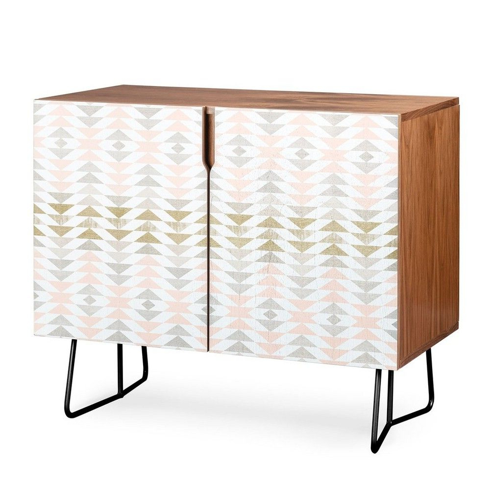 Georgiana Paraschiv Triangles Credenza Black Legs Pink Within Multi Colored Geometric Shapes Credenzas (View 14 of 20)