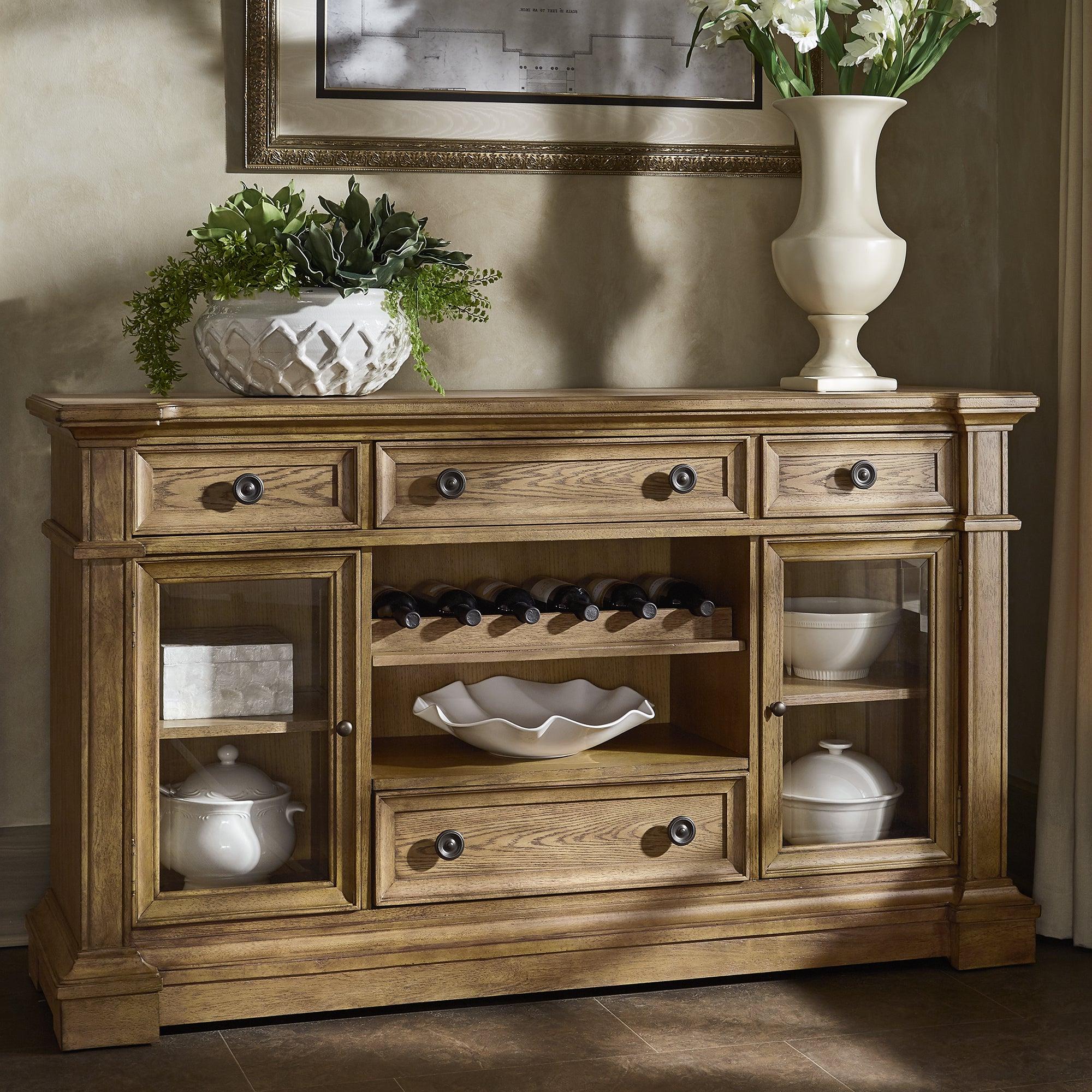 Gilderoy Natural Oak Finish Buffetinspire Q Artisan Throughout Modern Natural Oak Dining Buffets (View 8 of 20)