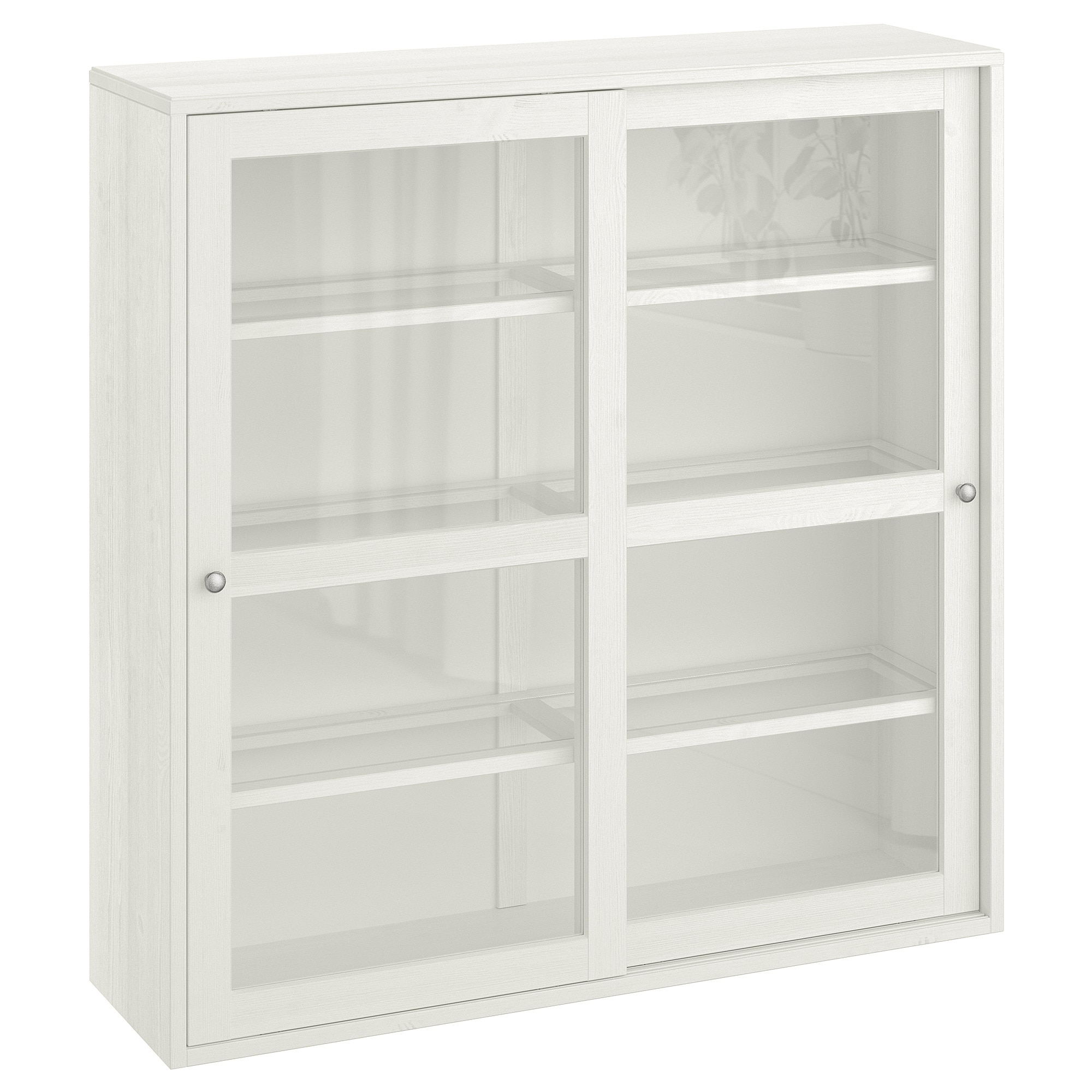 Glass Door Cabinet Havsta White In Glass Sliding Door Stackable Buffets (View 7 of 20)