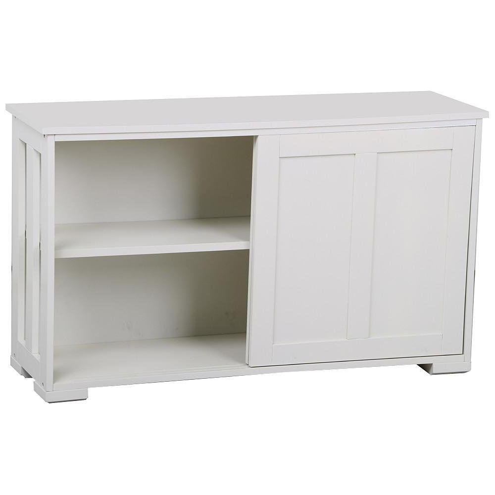 Go2Buy Antique White Stackable Sideboard Buffet Storage Pertaining To Glass Sliding Door Stackable Buffets (View 8 of 20)