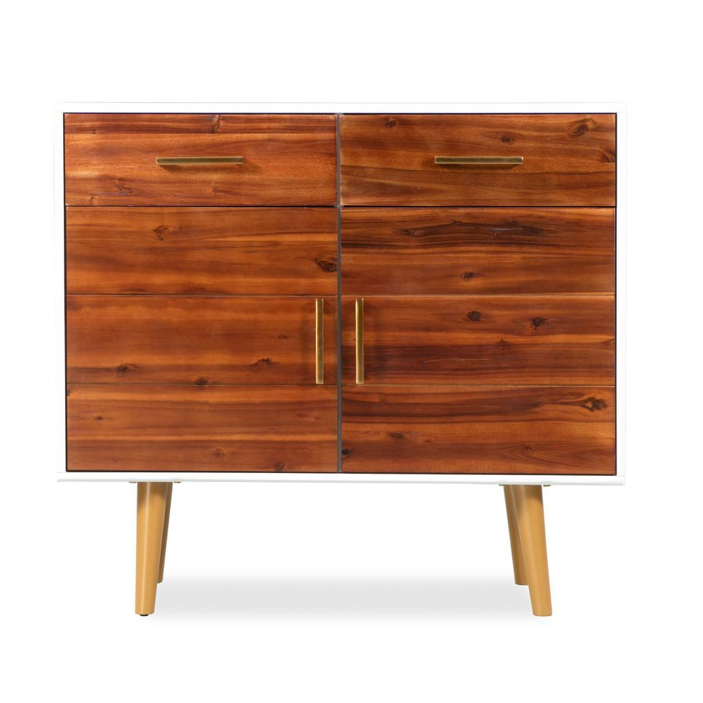 H4home Mid Century Modern Sideboard Solid Acacia Wood Scandinavian Style | H4home Furnitures With Mid Century Modern Scandinavian Style Buffets (View 18 of 20)