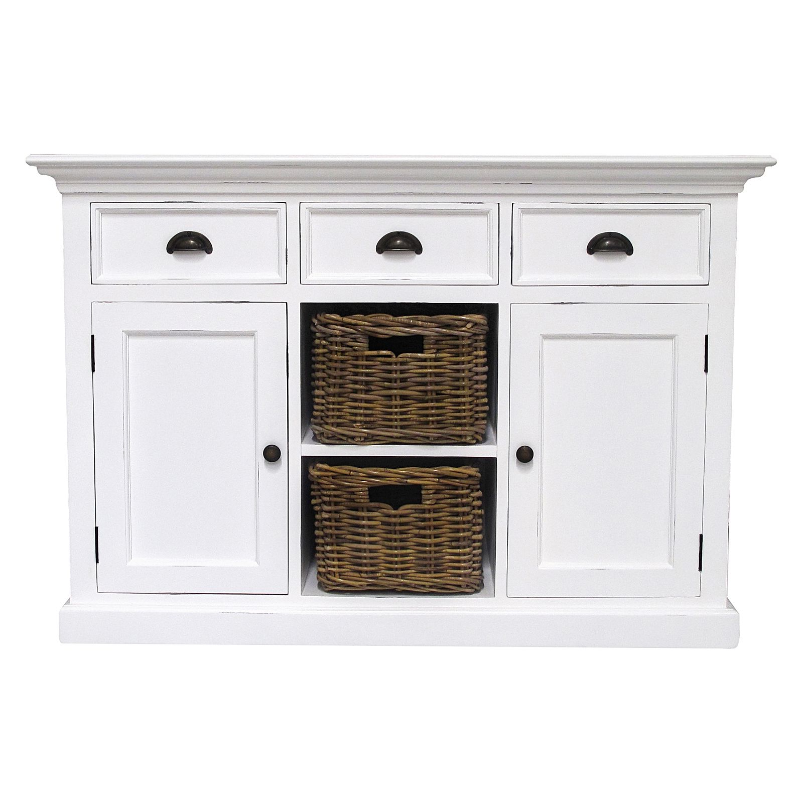 Halifax 3 Drawer Open Buffet Throughout 3 Drawer Storage Buffets (View 10 of 20)