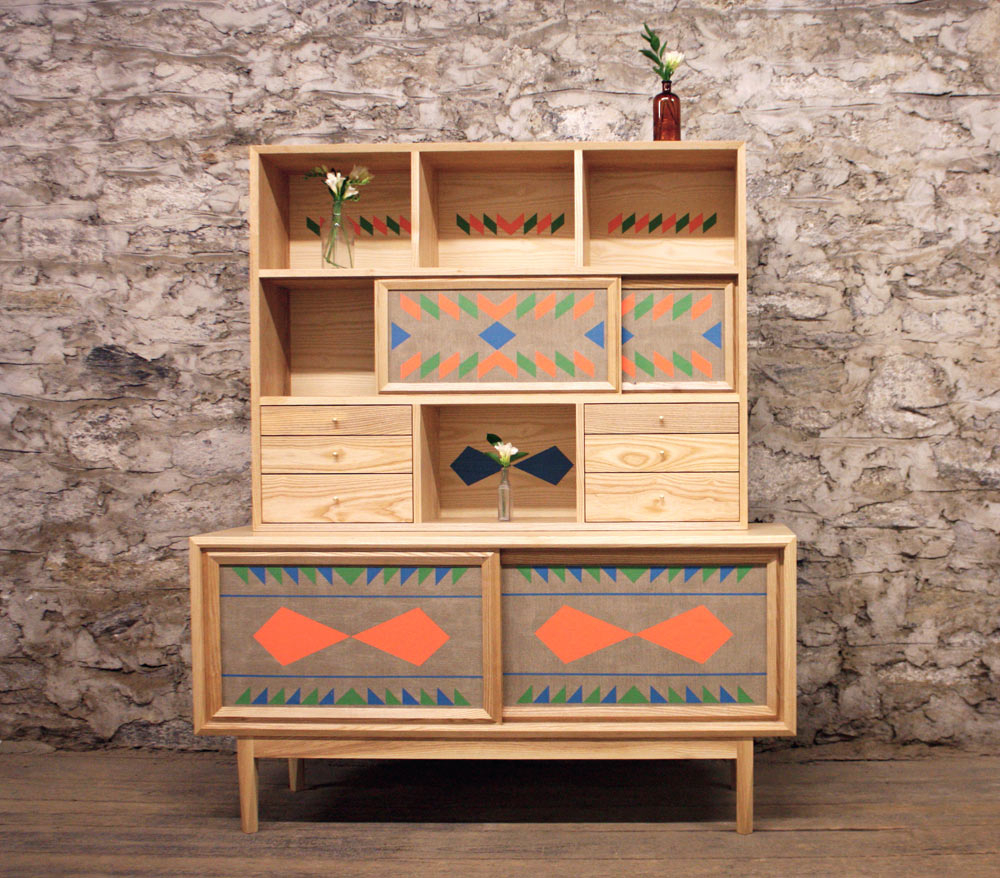 Hand Painted Geometric Furniturevolk – Design Milk Throughout Geometric Shapes Credenzas (View 12 of 20)