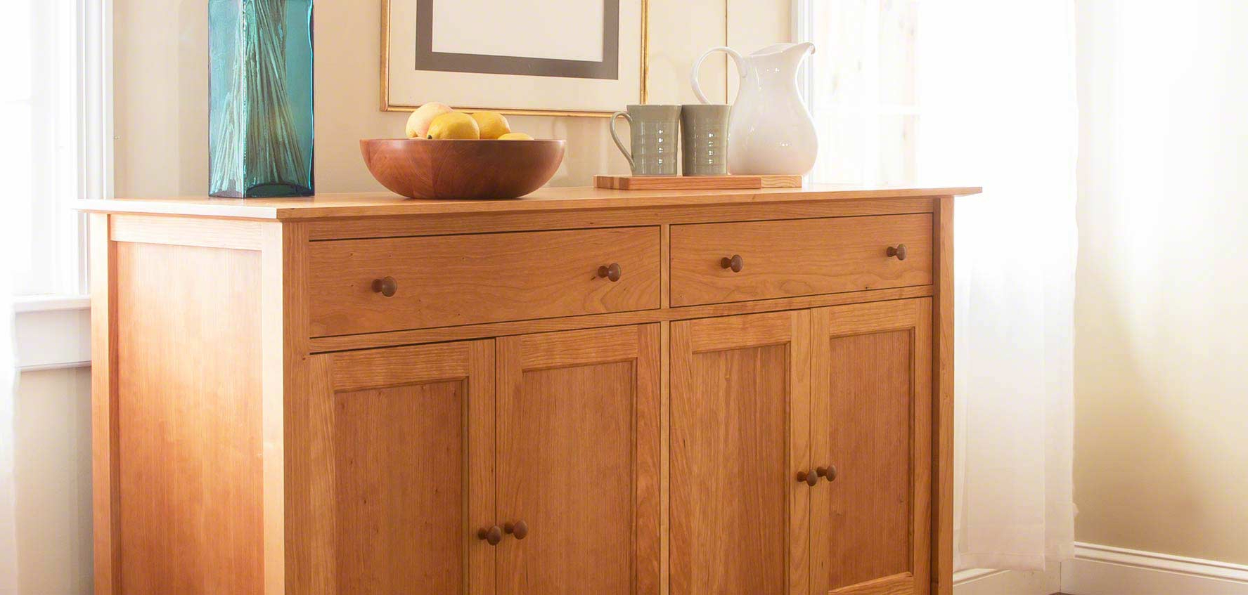 Handcrafted Wood Buffets & Sideboards – Vermont Woods Studios Throughout Modern Natural Oak Dining Buffets (View 20 of 20)