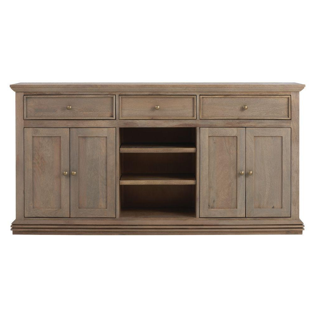 Home Decorators Collection Aldridge Antique Walnut Buffet Within Grey Wooden Accent Buffets (View 4 of 20)