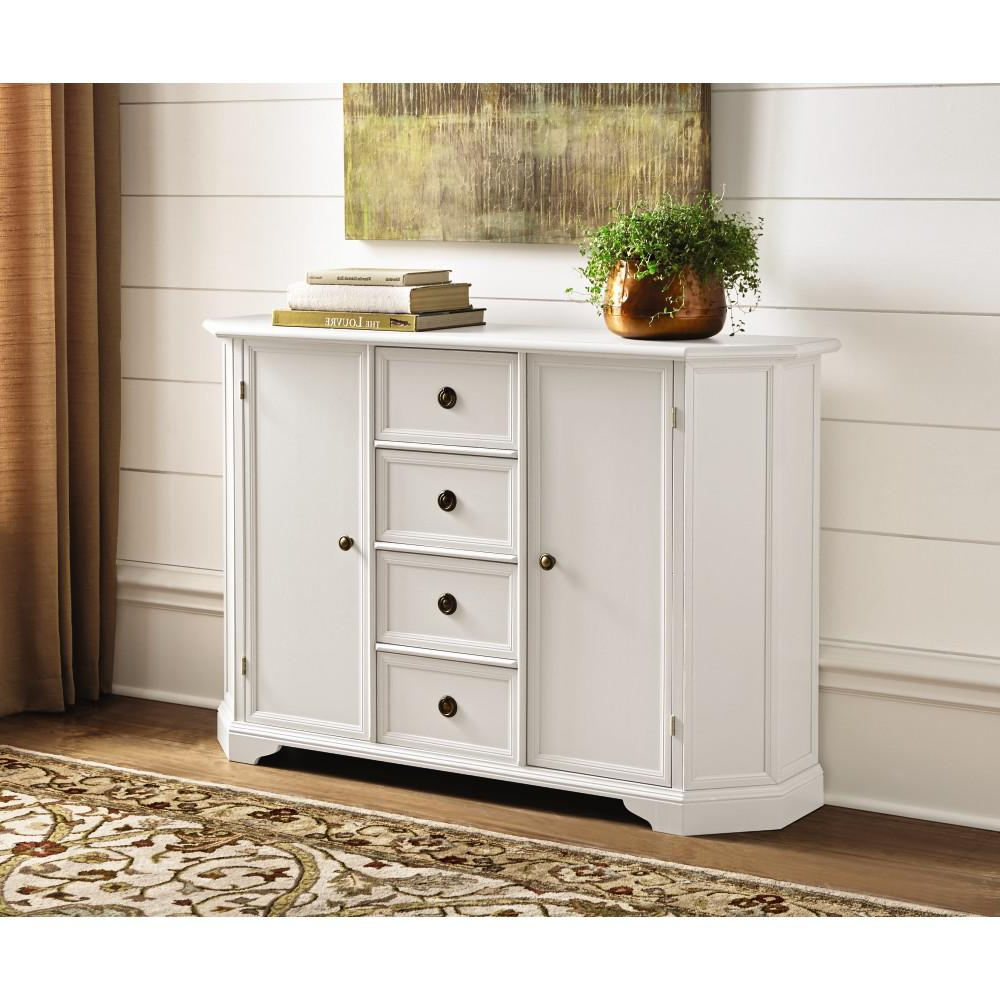 Home Decorators Collection Caley Antique White Buffet Within White Beadboard Buffets (View 8 of 20)
