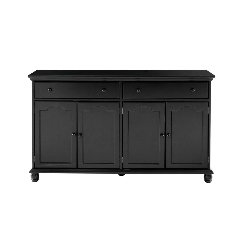 Home Decorators Collection Harwick Black Buffet Bf 23034 Bl Pertaining To White Geometric Buffets (View 6 of 20)