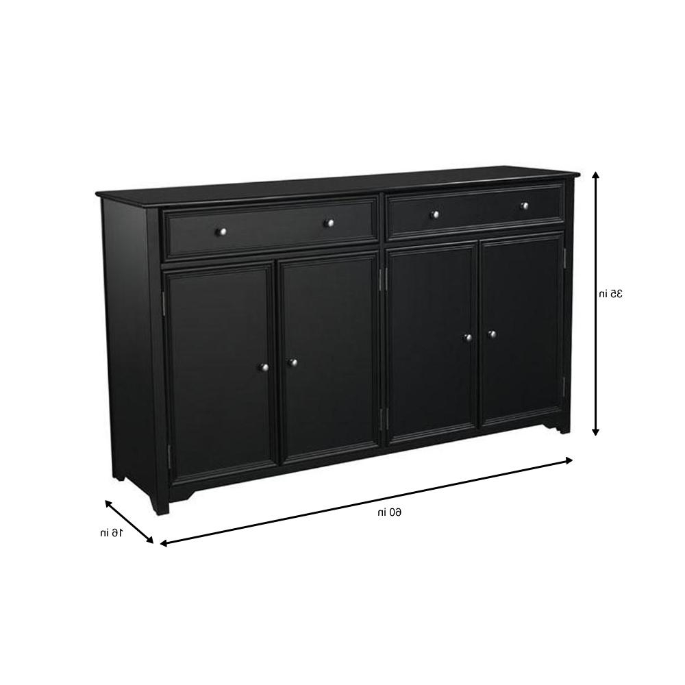 Home Decorators Collection Oxford Black Buffet Bf 24934 Bl In Rustic Black 2 Drawer Buffets (View 11 of 20)