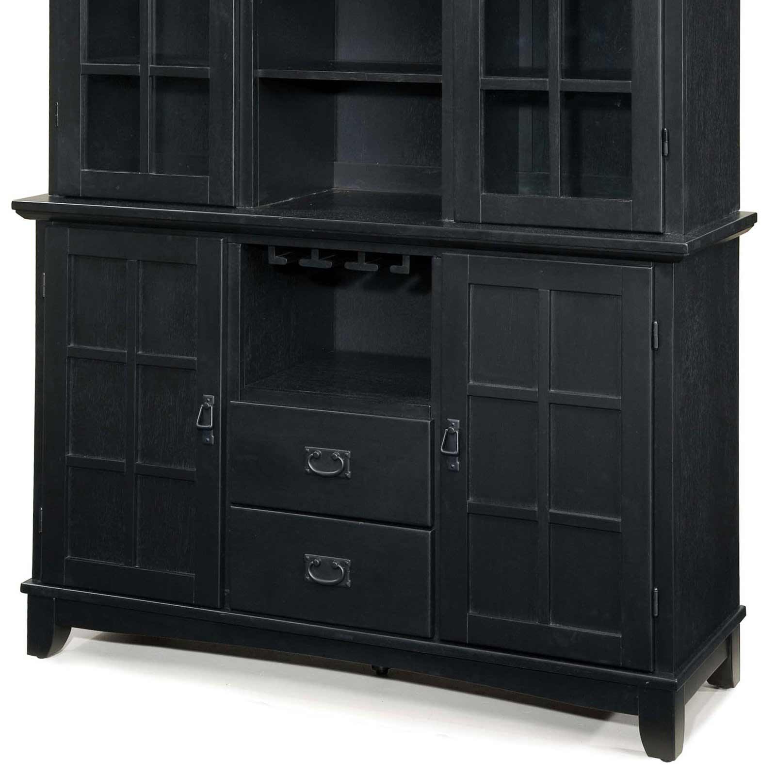 Home Styles Buffet To Beautify Kitchen Pacific Seafood Within Black Hutch Buffets With Stainless Top (View 13 of 20)