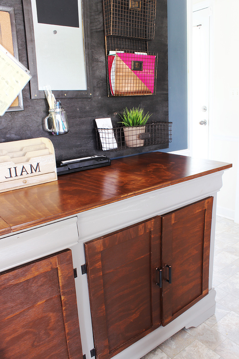 How I Upcycled A Hand Me Down Dresser To A Beautiful Buffet Regarding Medium Buffets With Wood Top (View 9 of 20)