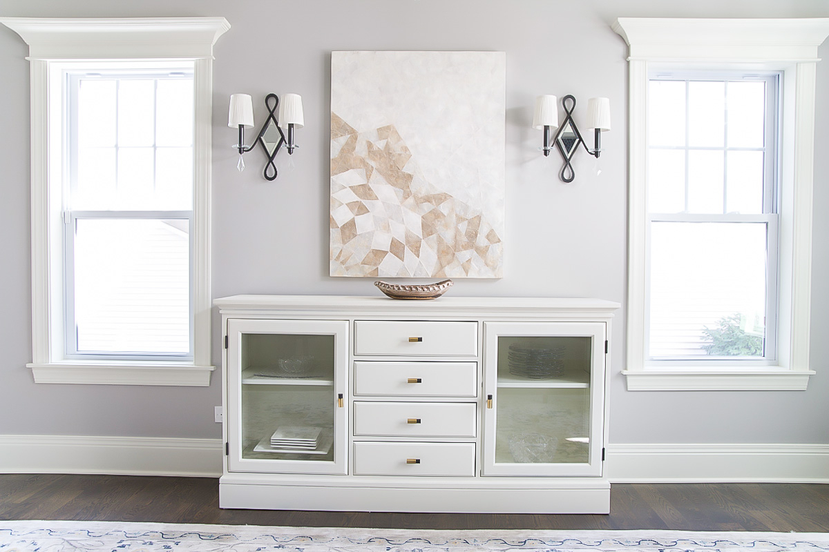 How To Paint Pottery Barn Furniture: Buffet Makeover | So In Simple Living Montego Black Wooden Buffets (View 18 of 20)
