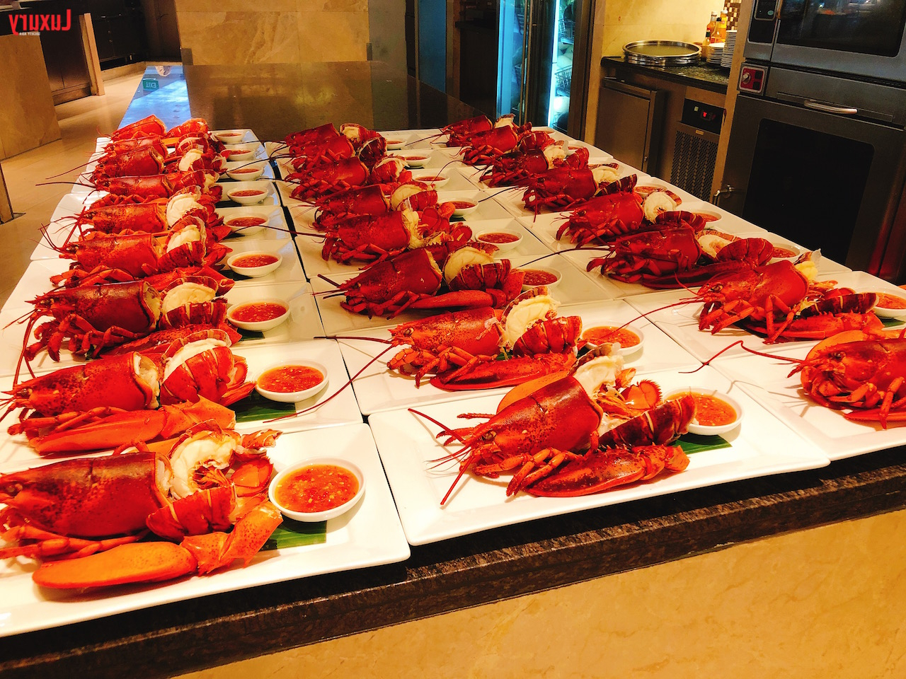 Intercontinental Bangkok's Sunday Brunch At Espresso: Review For Espresso Wood Multi Use Buffets (View 11 of 20)