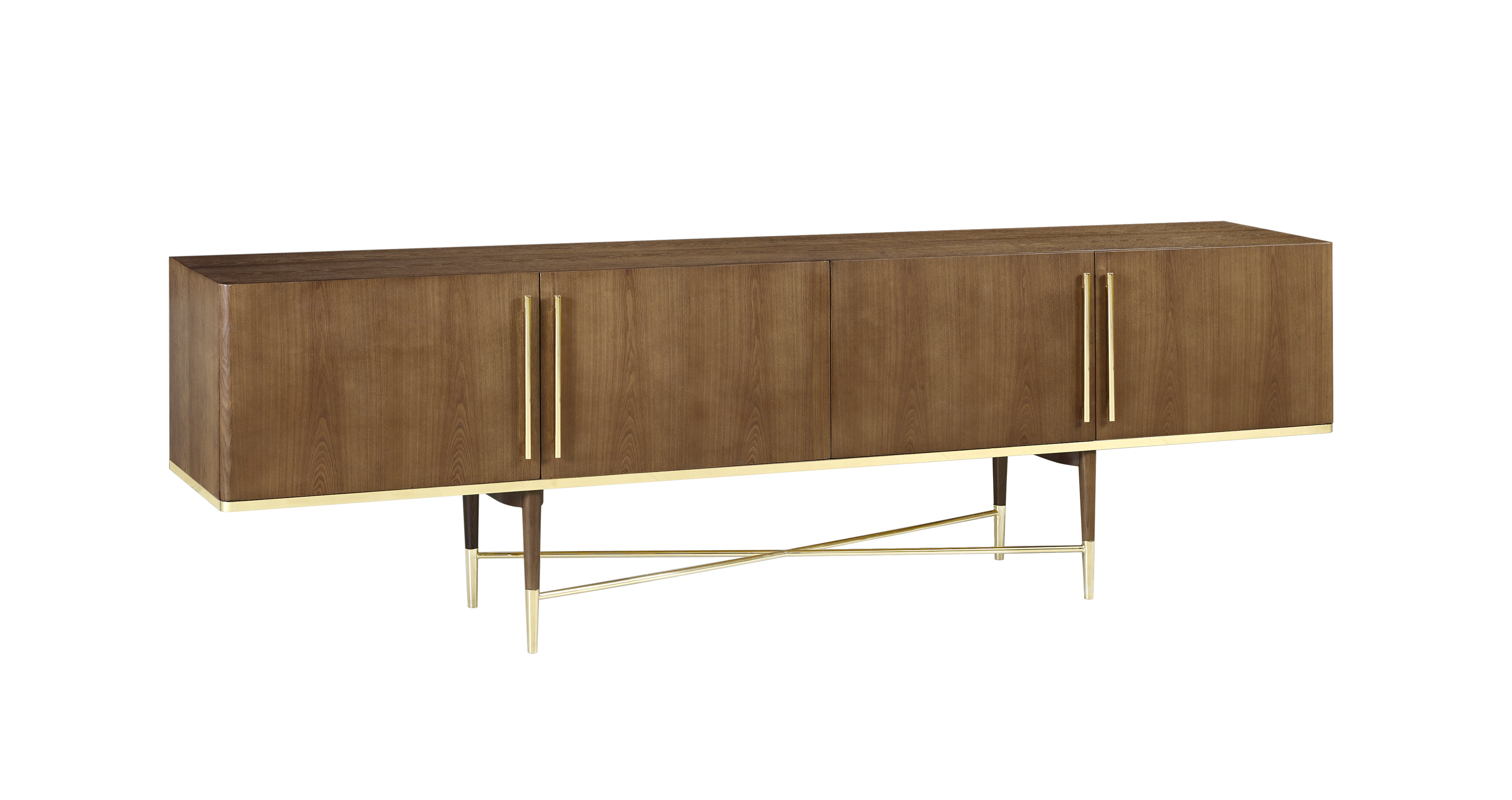 Ivanhoe Mid Century Modern Sideboard With Regard To Mid Century Brown And Grey Sideboards (View 10 of 20)