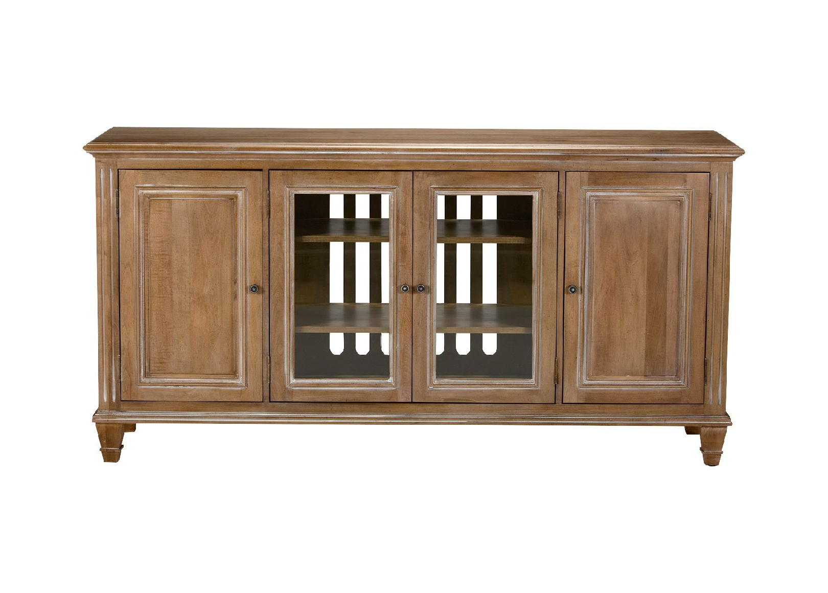 Jason Buffet With Glass Doors Buffets Sideboards Servers With Regard To Glass Sliding Door Stackable Buffets (Gallery 9 of 20)