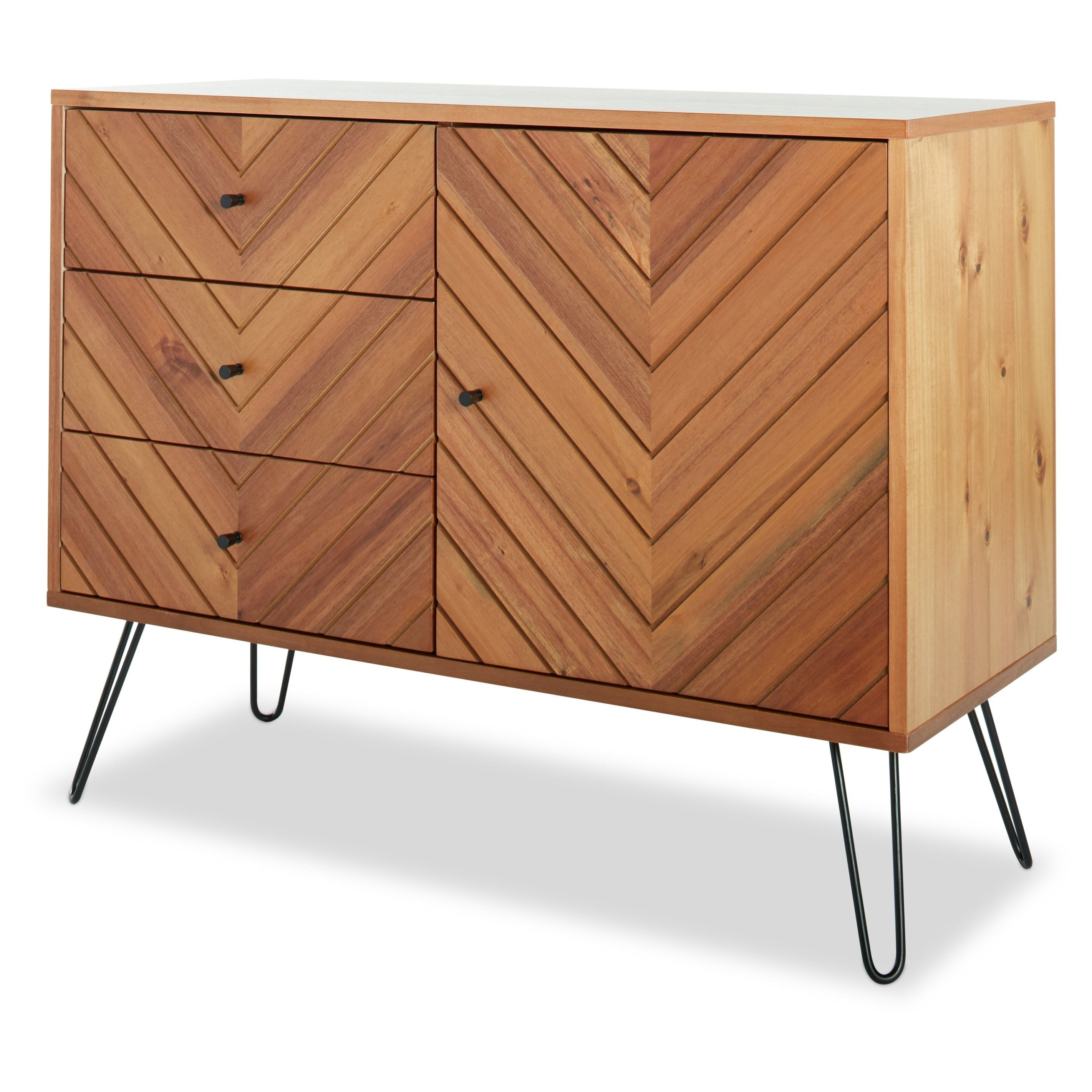 Jasper Laine Alexandria 1 Door 3 Drawer Buffet (alexandria 1 Intended For 3 Drawer Storage Buffets (View 9 of 20)