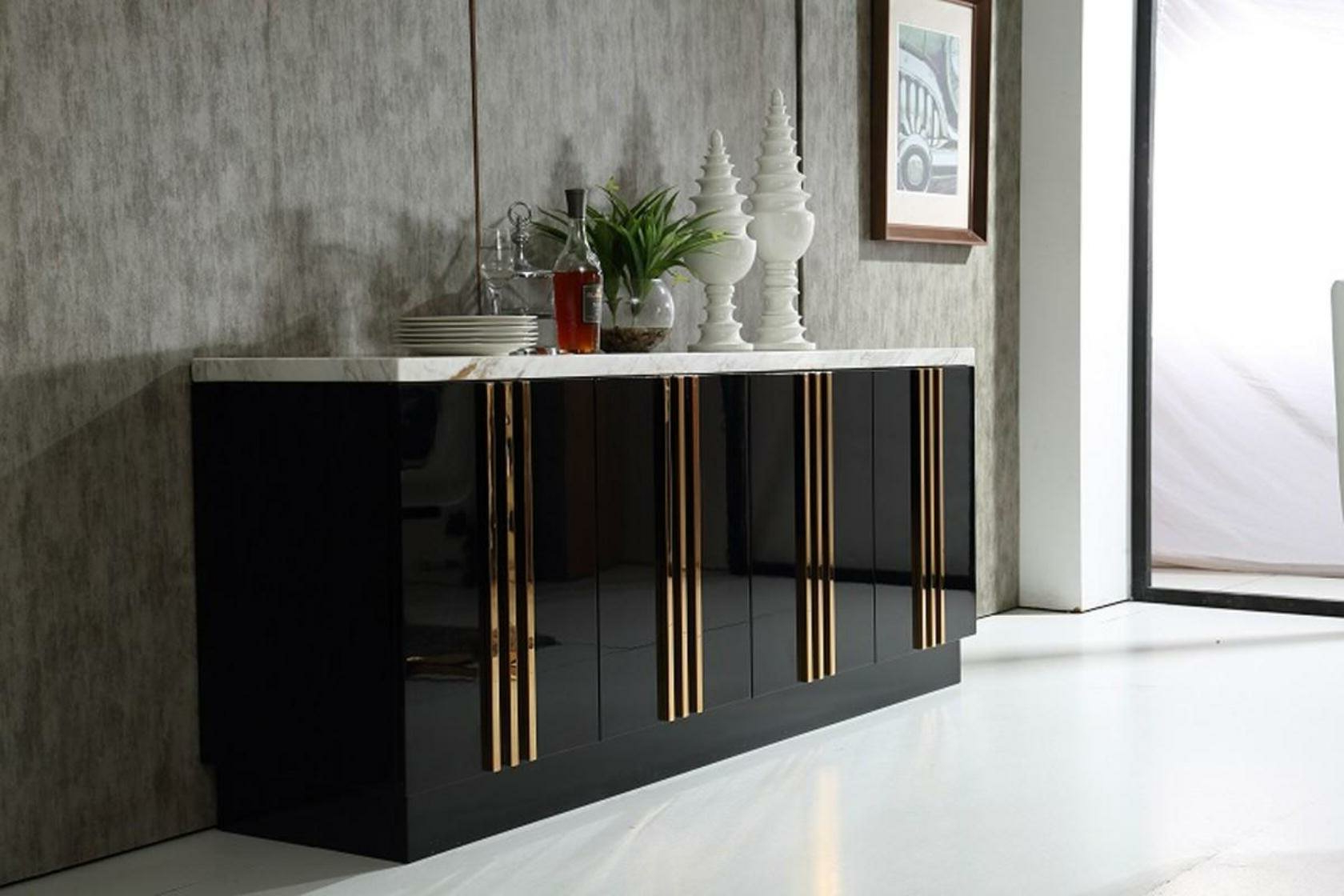 Jayleen Modern Sideboard Within Contemporary Black Dining Buffets (View 14 of 20)