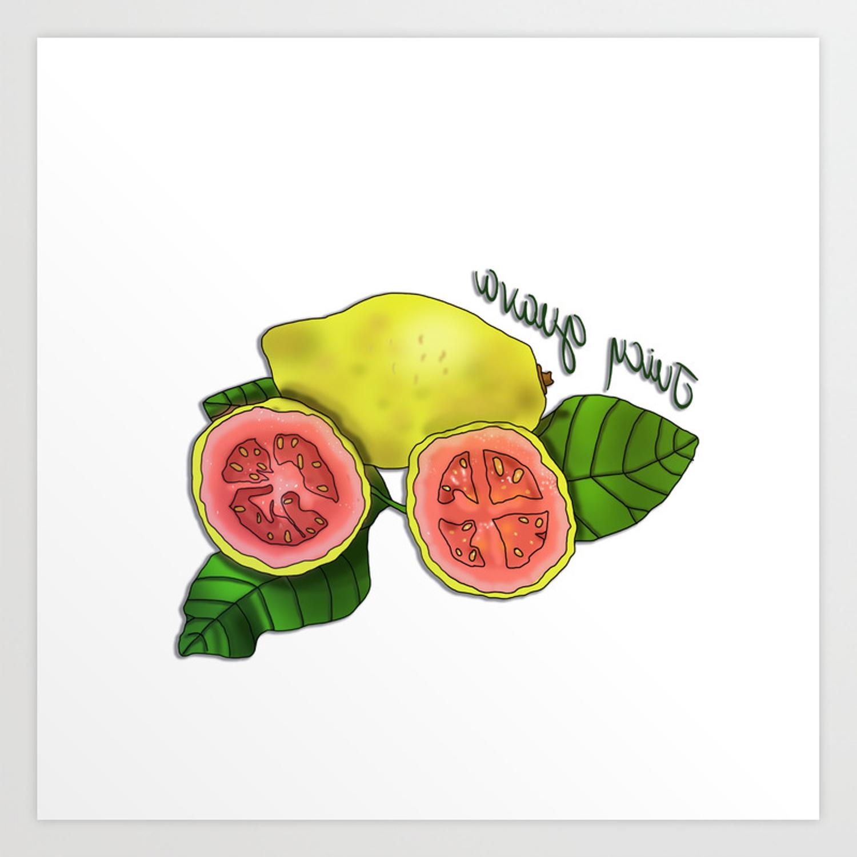 Juicy Guava Art Print Throughout Juicy Guava Credenzas (View 7 of 20)