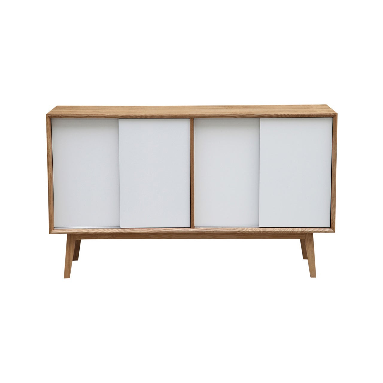 Kardiel Porter Mid Century Modern Credenza Storage Cabinet Intended For Mid Century Retro Modern Oak And Espresso Wood Buffets (Gallery 7 of 20)
