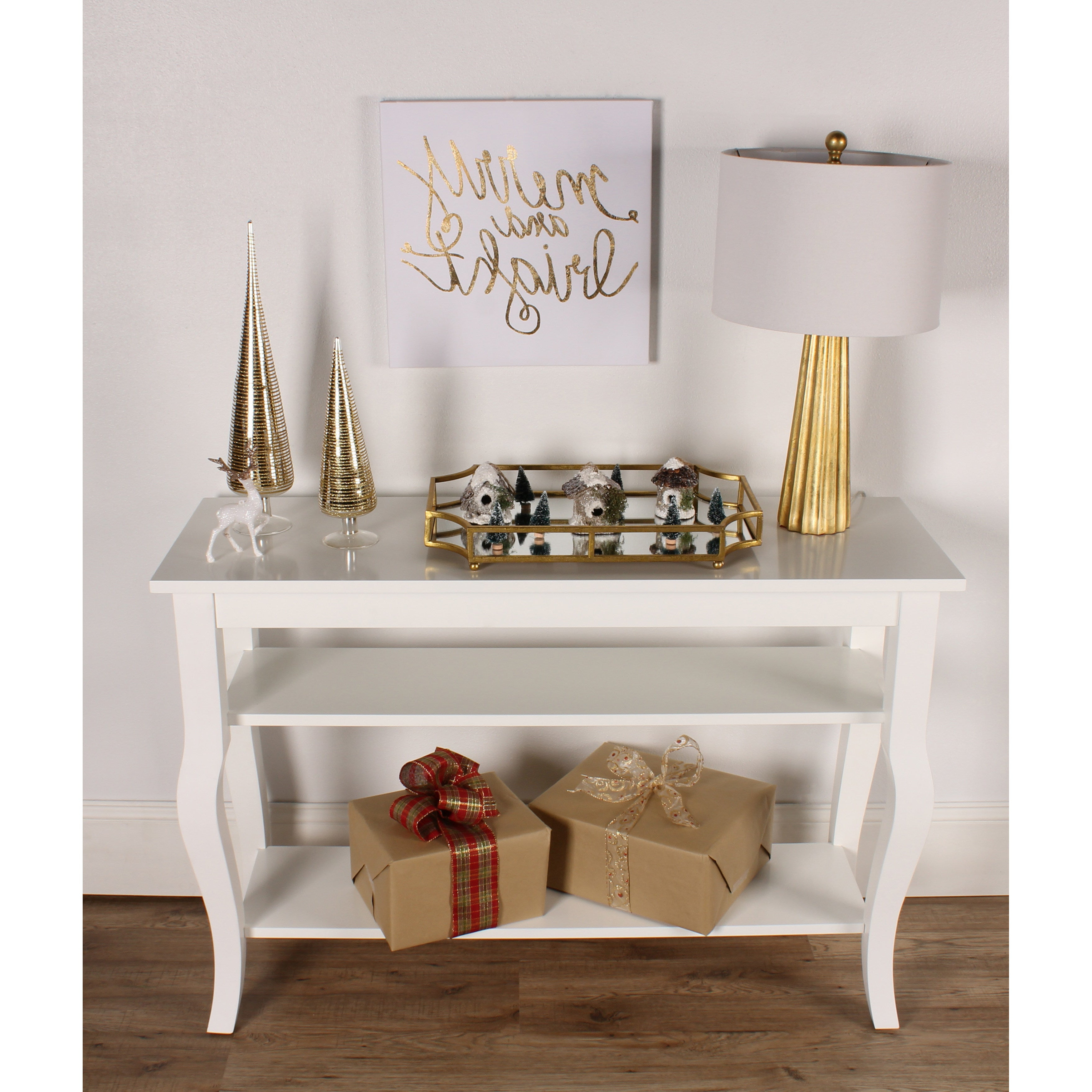 Kate And Laurel Lillian Wood 2 Shelf Console Table With Curved Legs |  Overstock Shopping – The Best Deals On Coffee, Sofa & End Tables For 2 Shelf Buffets With Curved Legs (Gallery 10 of 20)