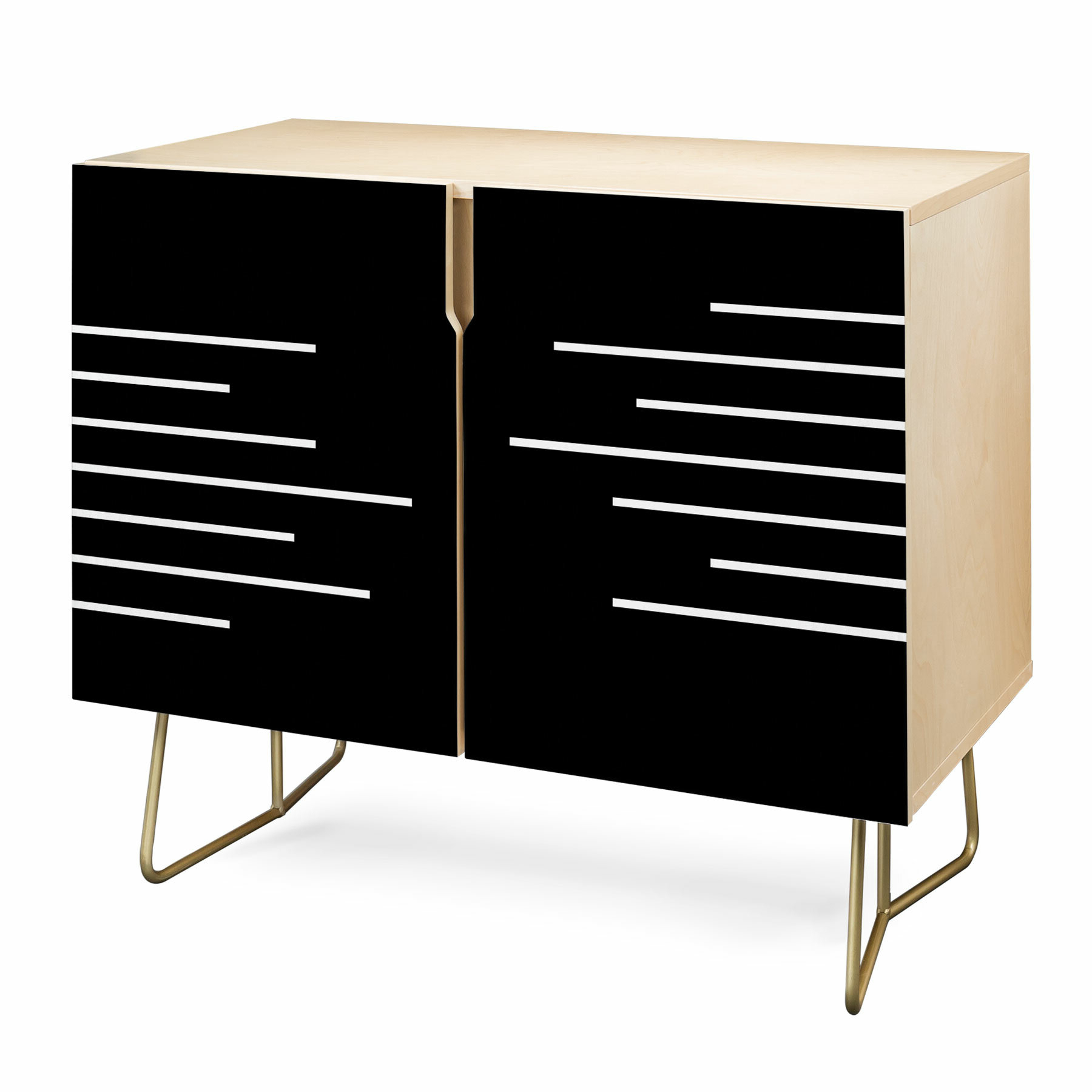 Kelly Haines Geometric Stripes Accent Cabinet Throughout Multi Stripe Credenzas (Gallery 10 of 20)
