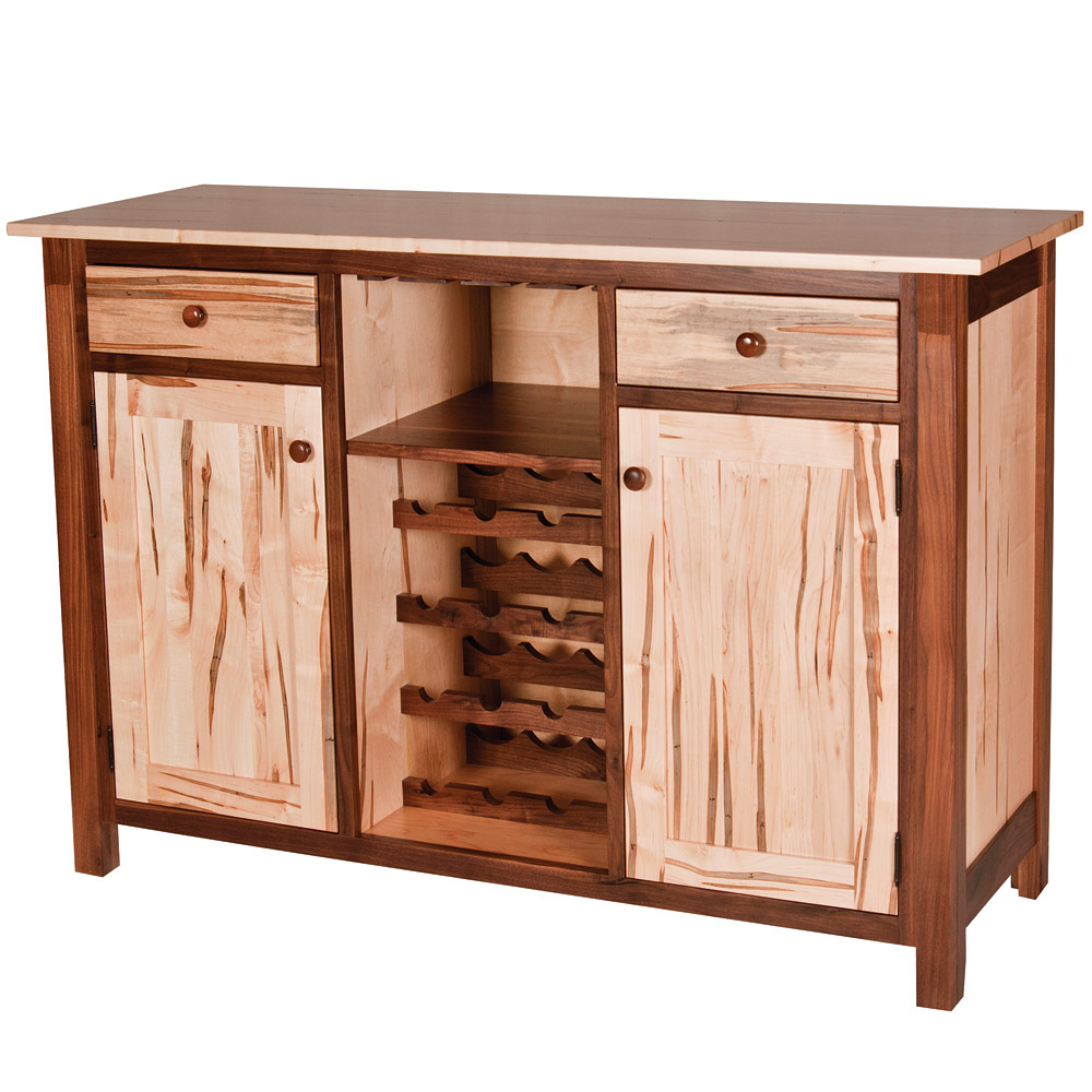 Lamar Amish Wine Buffet With 2 Shelf Buffets With Curved Legs (View 11 of 20)