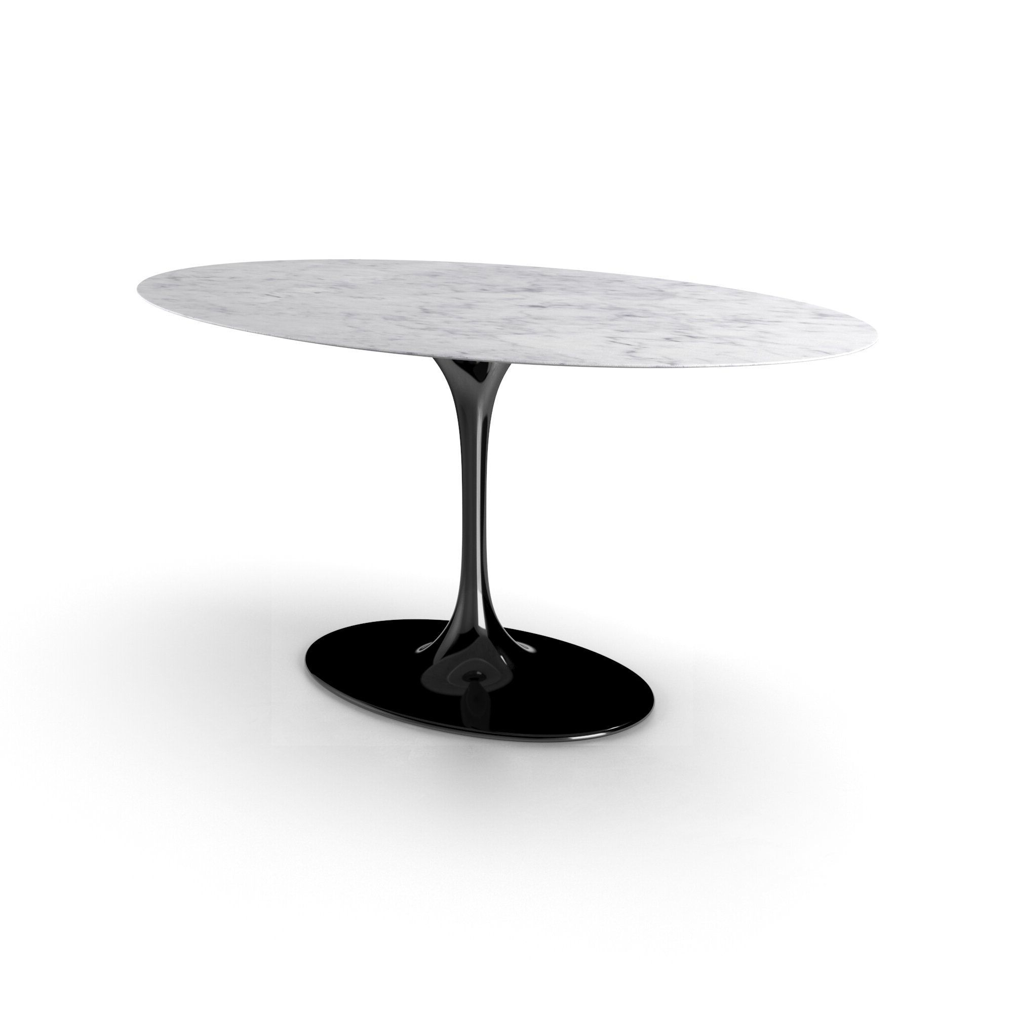 Larkson Carrera Marble Oval Dining Table Within Carrera Contemporary Black Dining Buffets (View 15 of 20)