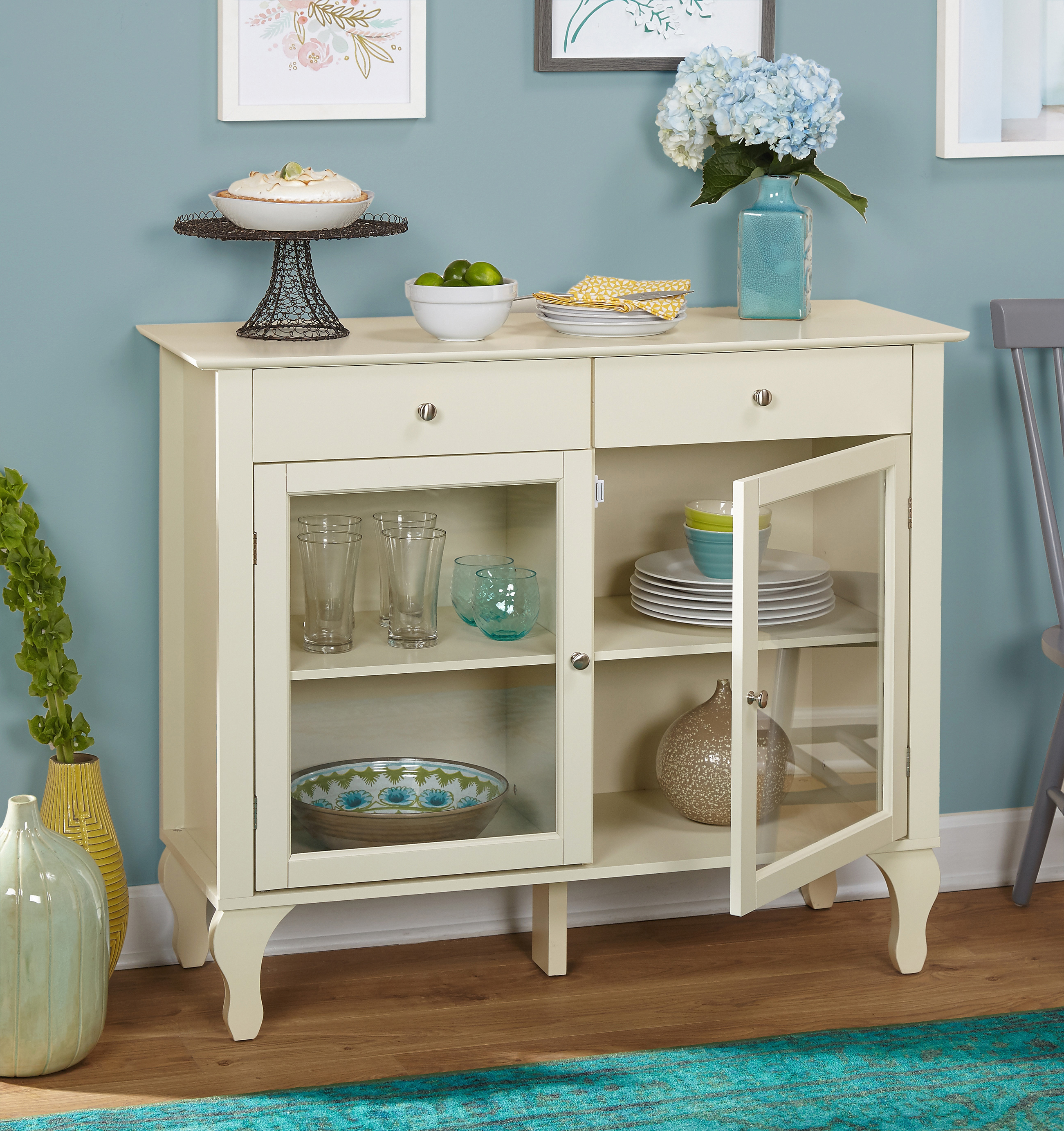 Layla 2 Drawer Buffet, Multiple Colors With Regard To Multi Shelf Corner Buffets (View 9 of 20)