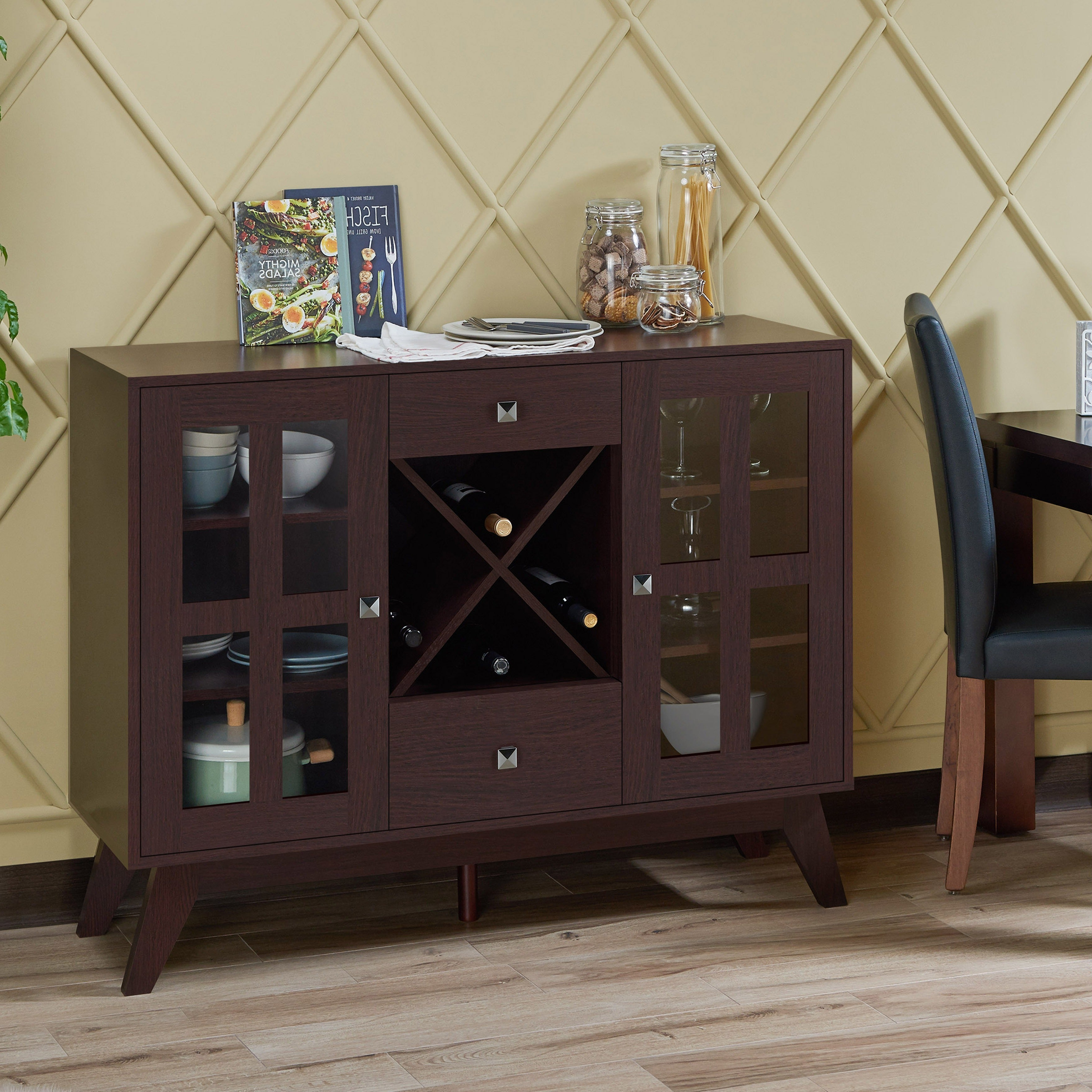 Featured Photo of Contemporary Espresso 2 Cabinet Dining Buffets