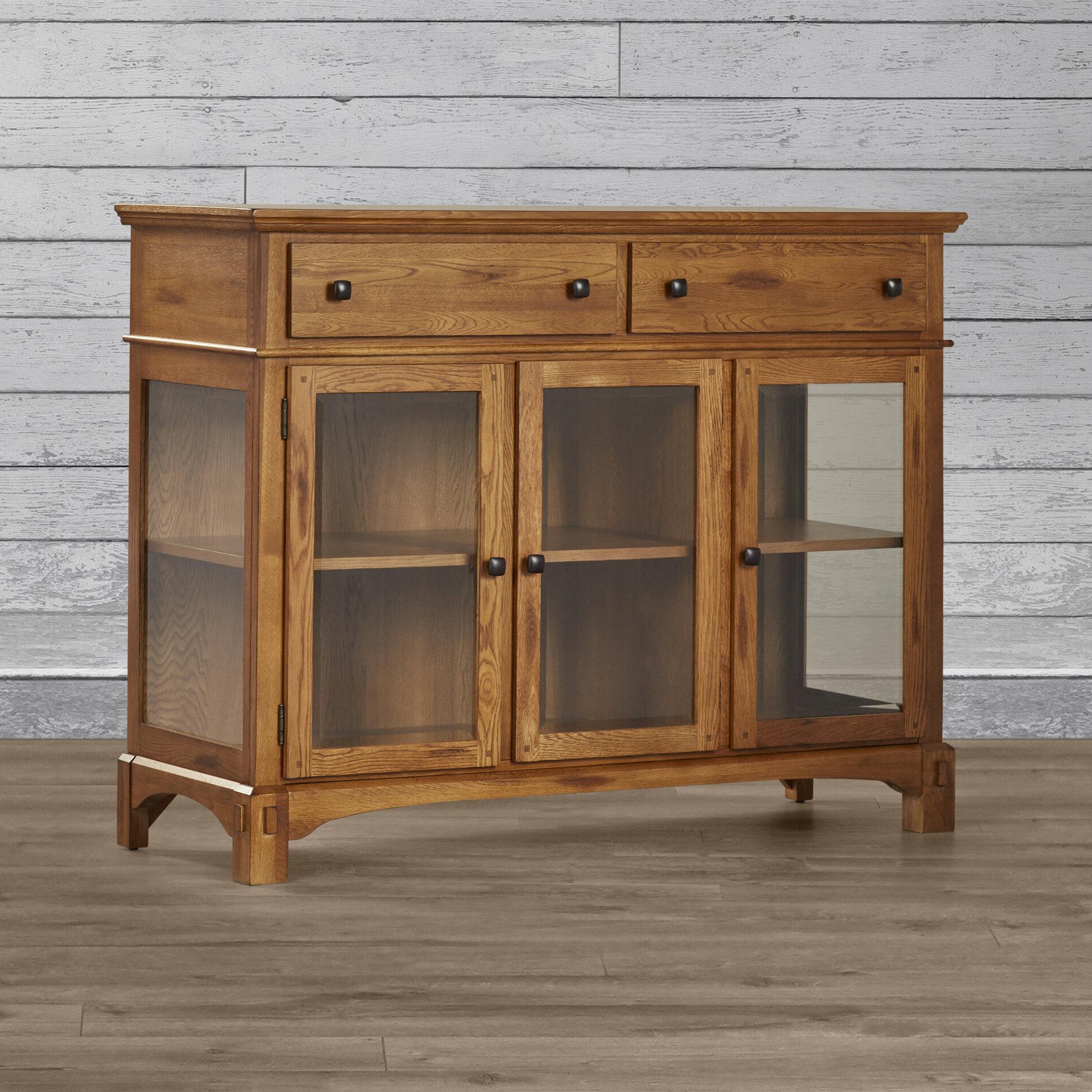 Light Oak Buffet Table | Wayfair In Light White Oak Two Tone Modern Buffets (View 10 of 20)