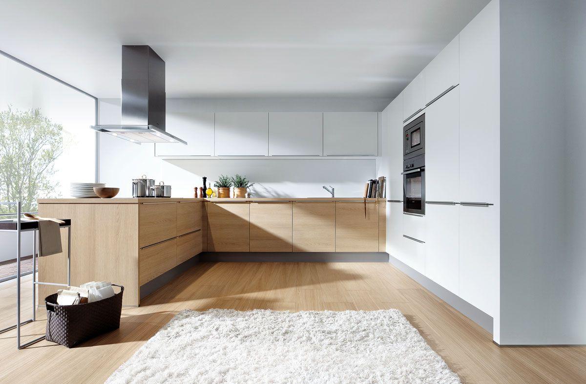 Light Oak & Matt White | Kuchyna In 2019 | White Oak Kitchen Throughout Light White Oak Two Tone Modern Buffets (View 11 of 20)