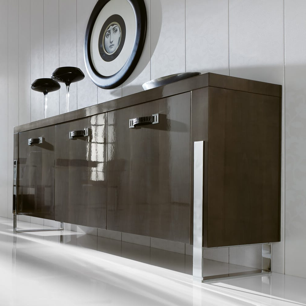 London Collection Contemporary Sideboard Buffet Regarding Contemporary Black Buffets (View 11 of 20)