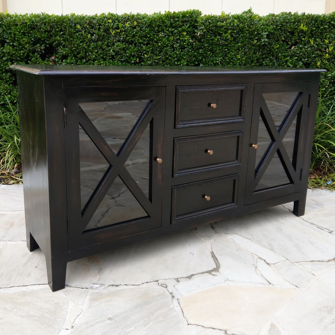 Low Buffet Within Rustic Black 2 Drawer Buffets (View 15 of 20)