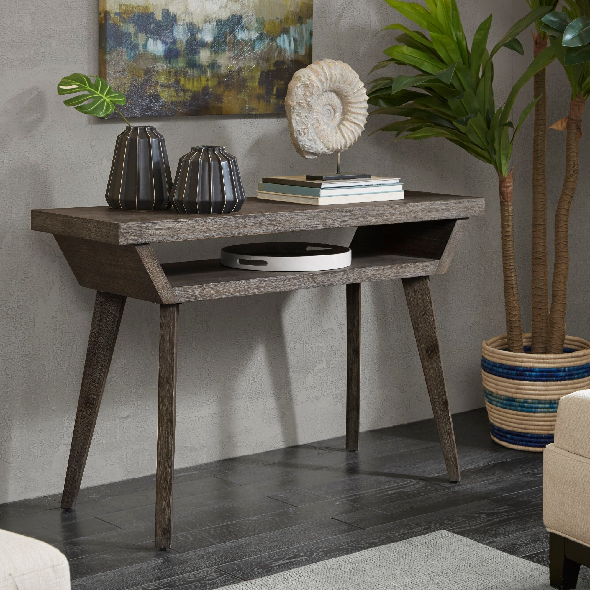 Madison Park Rachel Reclaimed Grey Console Table Inside Madison Park Rachel Grey Media Credenzas (View 13 of 20)