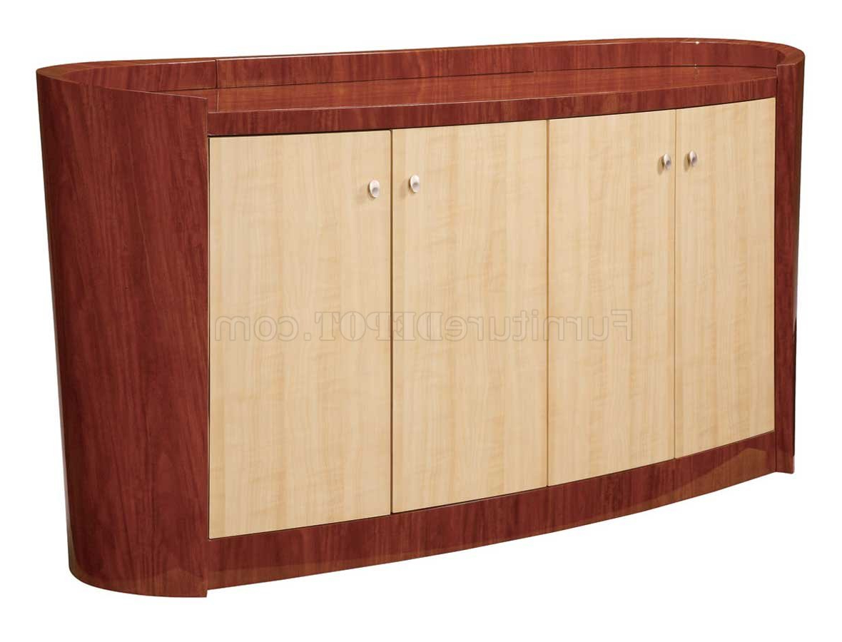 Maple And Cherry High Gloss Finish Contemporary Buffet In Buffets With Cherry Finish (View 19 of 20)