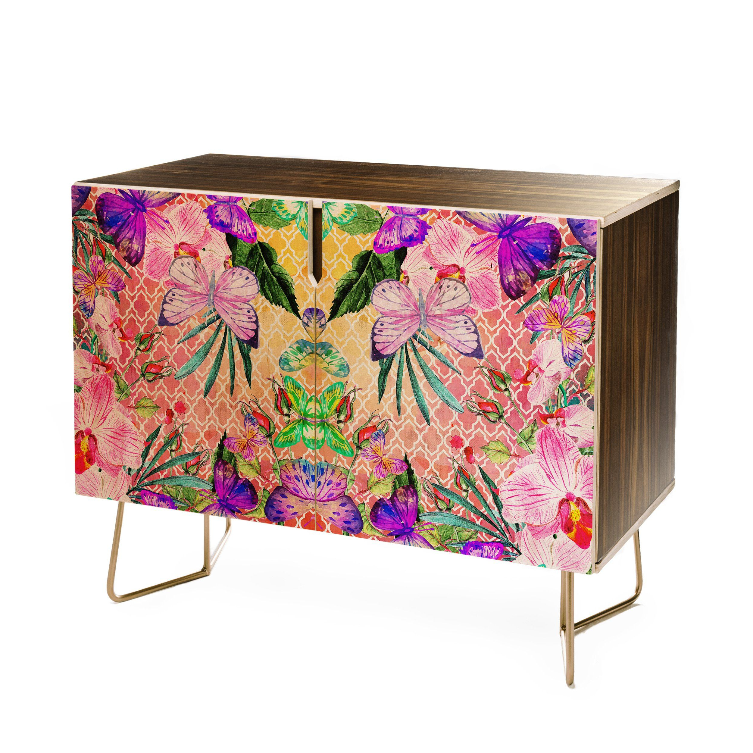 Marta Barragan Camarasa Mosaic Of Nature And Butterflies Regarding Purple Floral Credenzas (View 6 of 20)