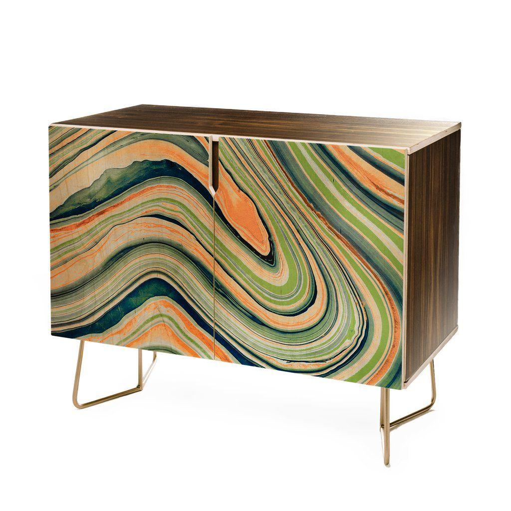 Marta Barragan Camarasa Watercolor Marble Waves Credenza Throughout Strokes And Waves Credenzas (View 4 of 20)