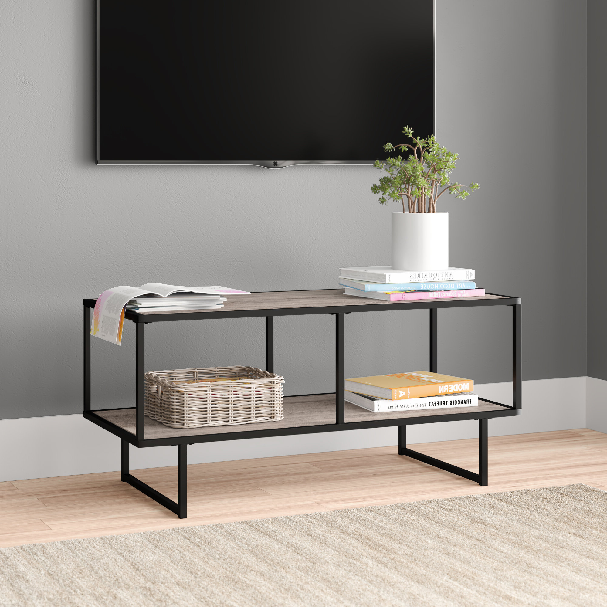 Mercury Row Marrufo Left Hand Facing Sectional & Reviews With Regard To Carbon Loft Feleni Contemporary Buffets (View 15 of 20)