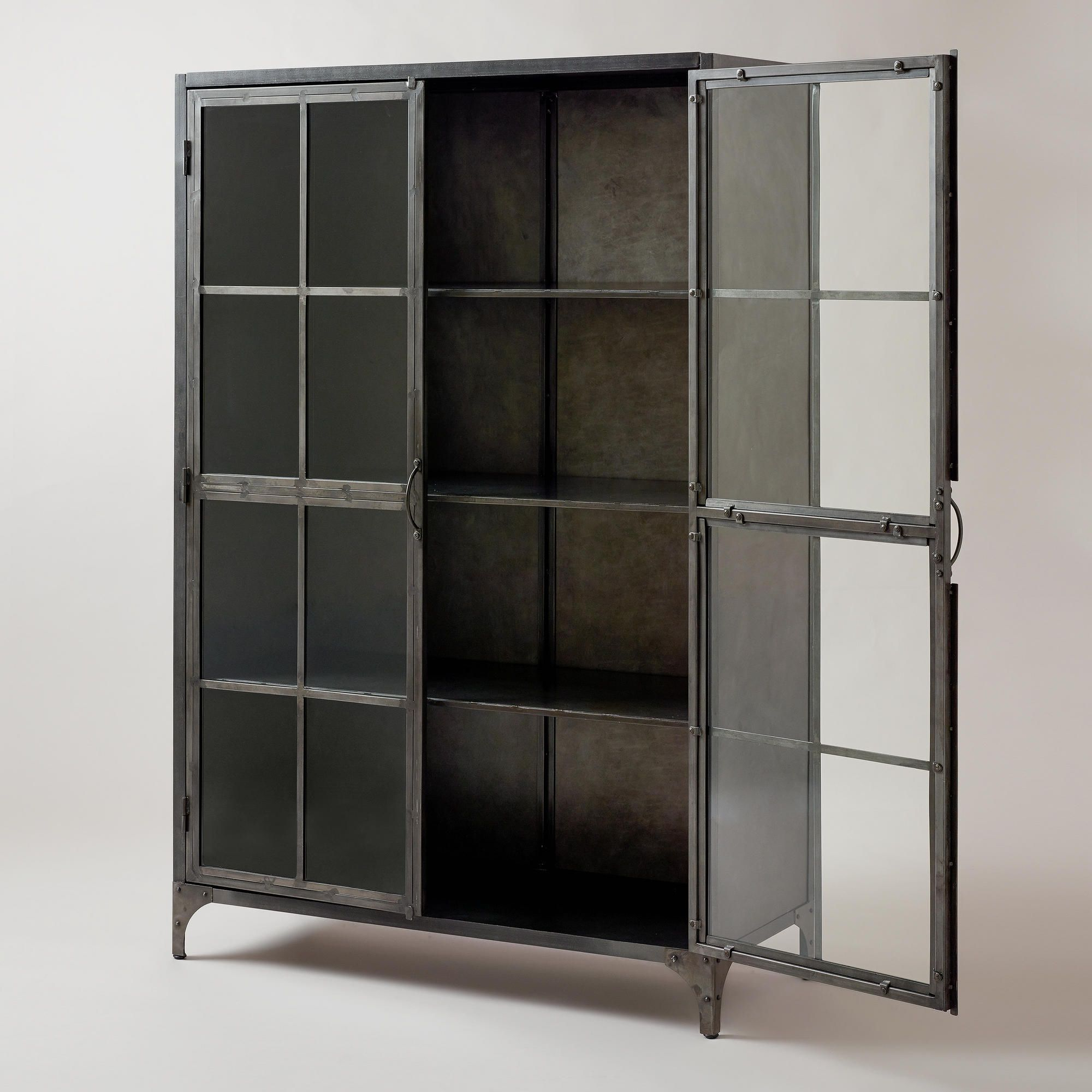 Metal Display Cabinet   World Market $ (View 5 of 20)