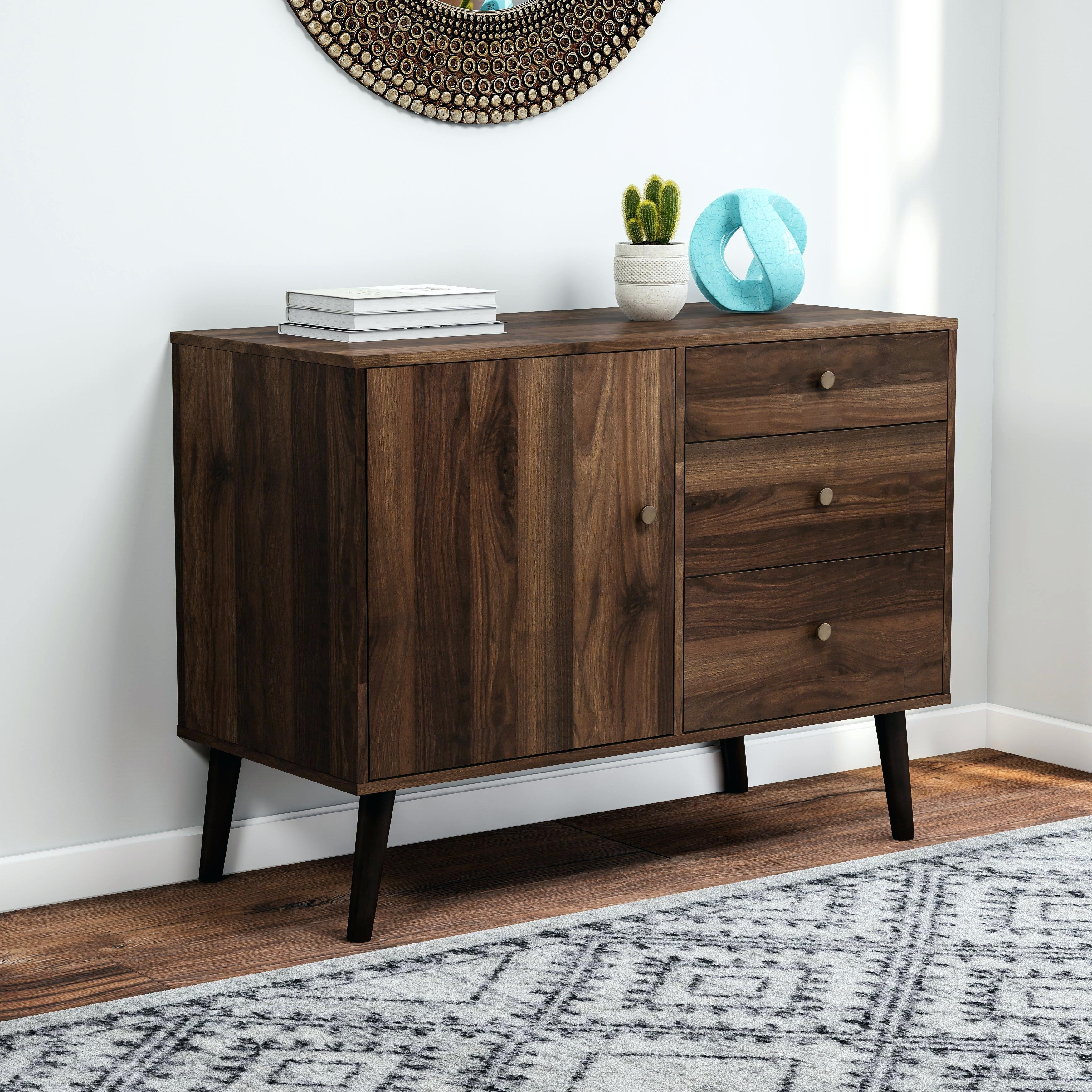 Mid Century Buffet Furniture Sideboard Credenza Table Throughout Mid Century Brown Sideboards (View 11 of 20)