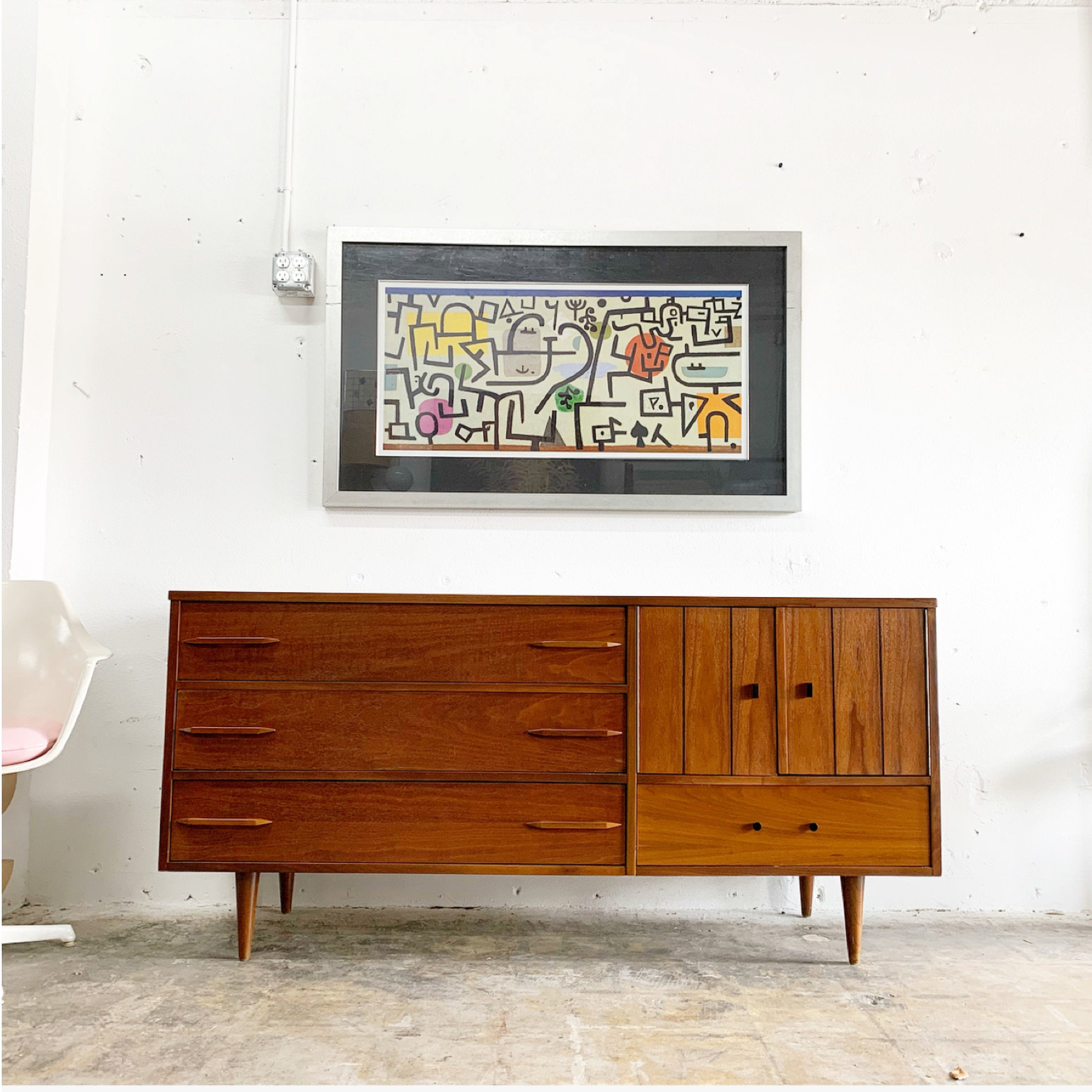 Mid Century Credenza Or Console Intended For Beach Stripes Credenzas (View 18 of 20)