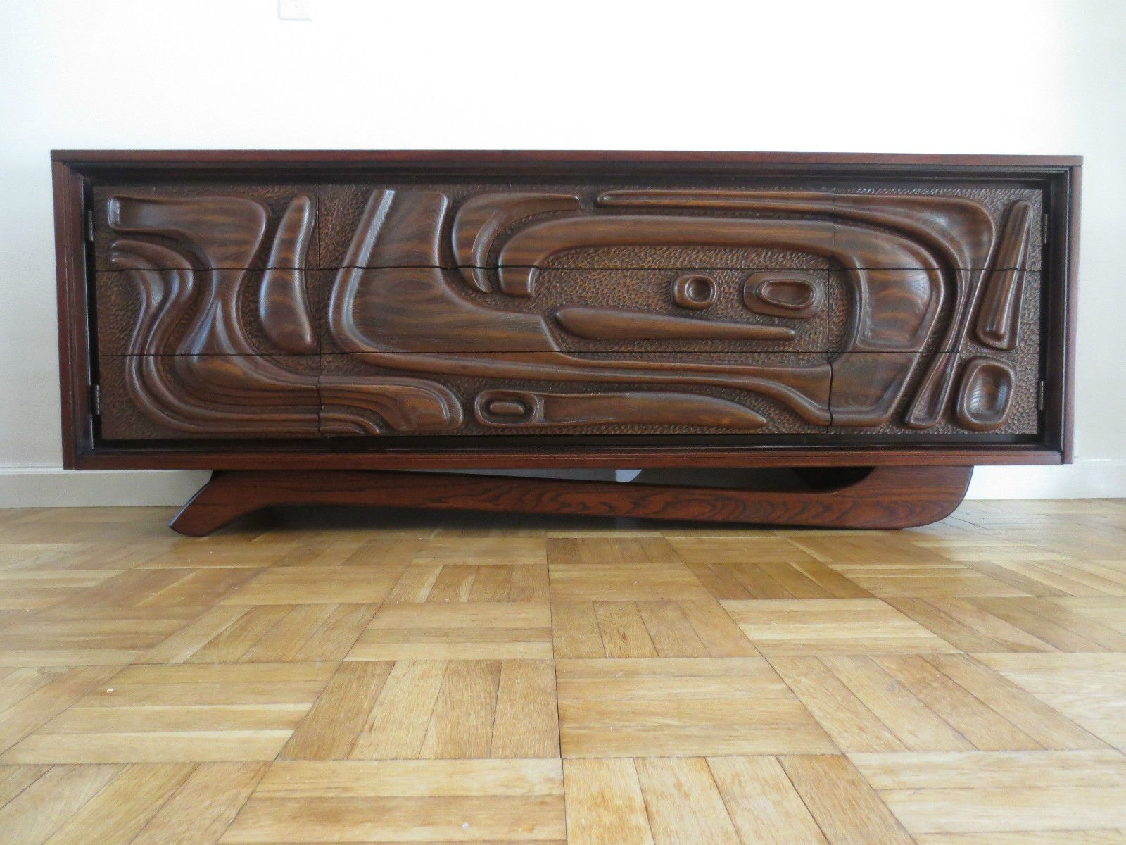Mid Century Modern Credenza Witco Oceanic Style Don Draper Throughout Ocean Marble Credenzas (View 14 of 20)