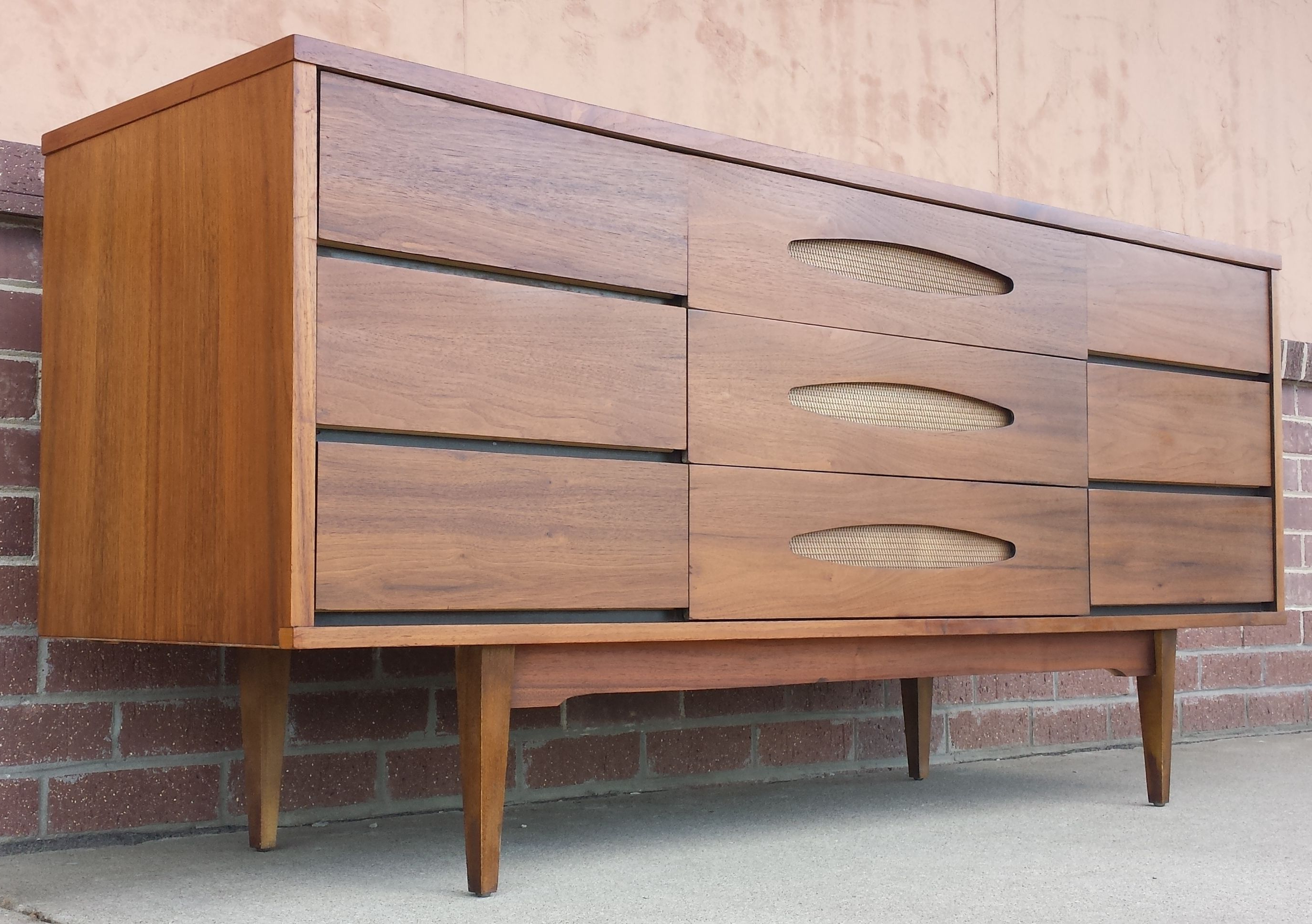 Mid Century Modern The Real Mccoy Dresser Credenza | All With Mid Century Retro Modern Oak And Espresso Wood Buffets (View 14 of 20)
