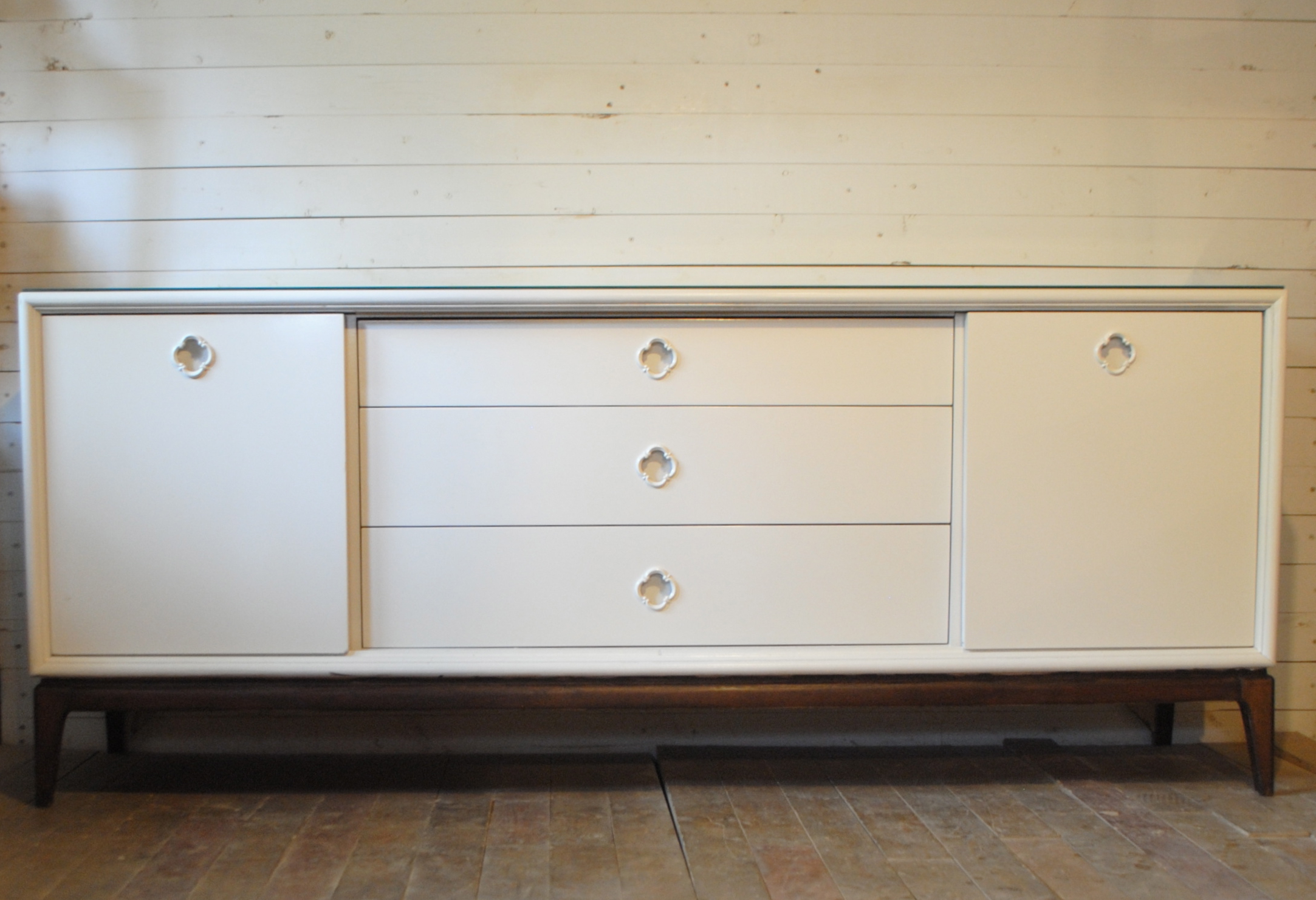 Mid Century Nine Drawer Dresser / Credenza | Phylum Furniture For Mid Century White Buffets (View 10 of 20)