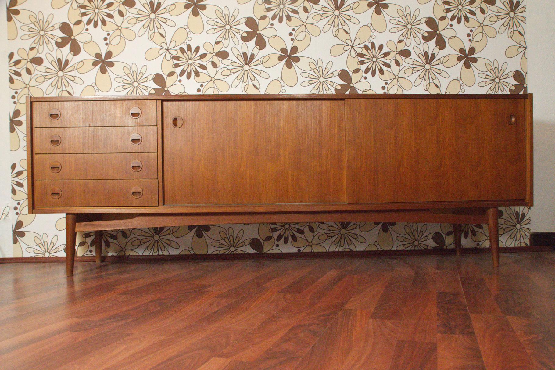 Mid Century Teak Sideboard 240cm Online Kaufen – Der Regarding Mid Century Brown Sideboards (View 14 of 20)