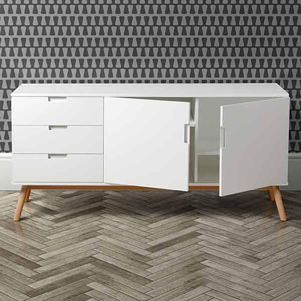 Mid Century White Oak Sideboard In 2019 | Homedecor | White Pertaining To Mid Century White Buffets (View 11 of 20)